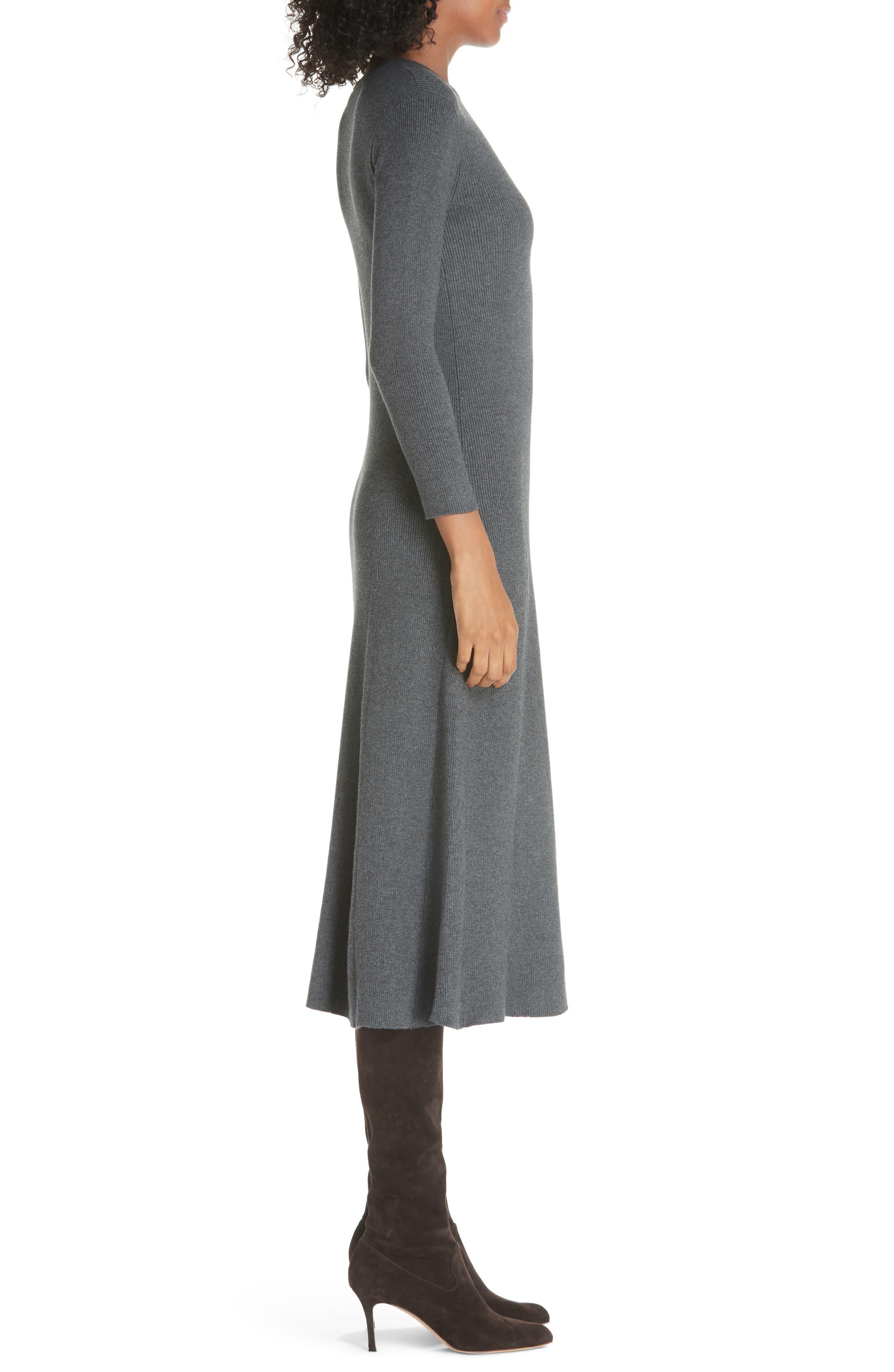 Midi Sweater Dress,                             Alternate thumbnail 3, color,                             020