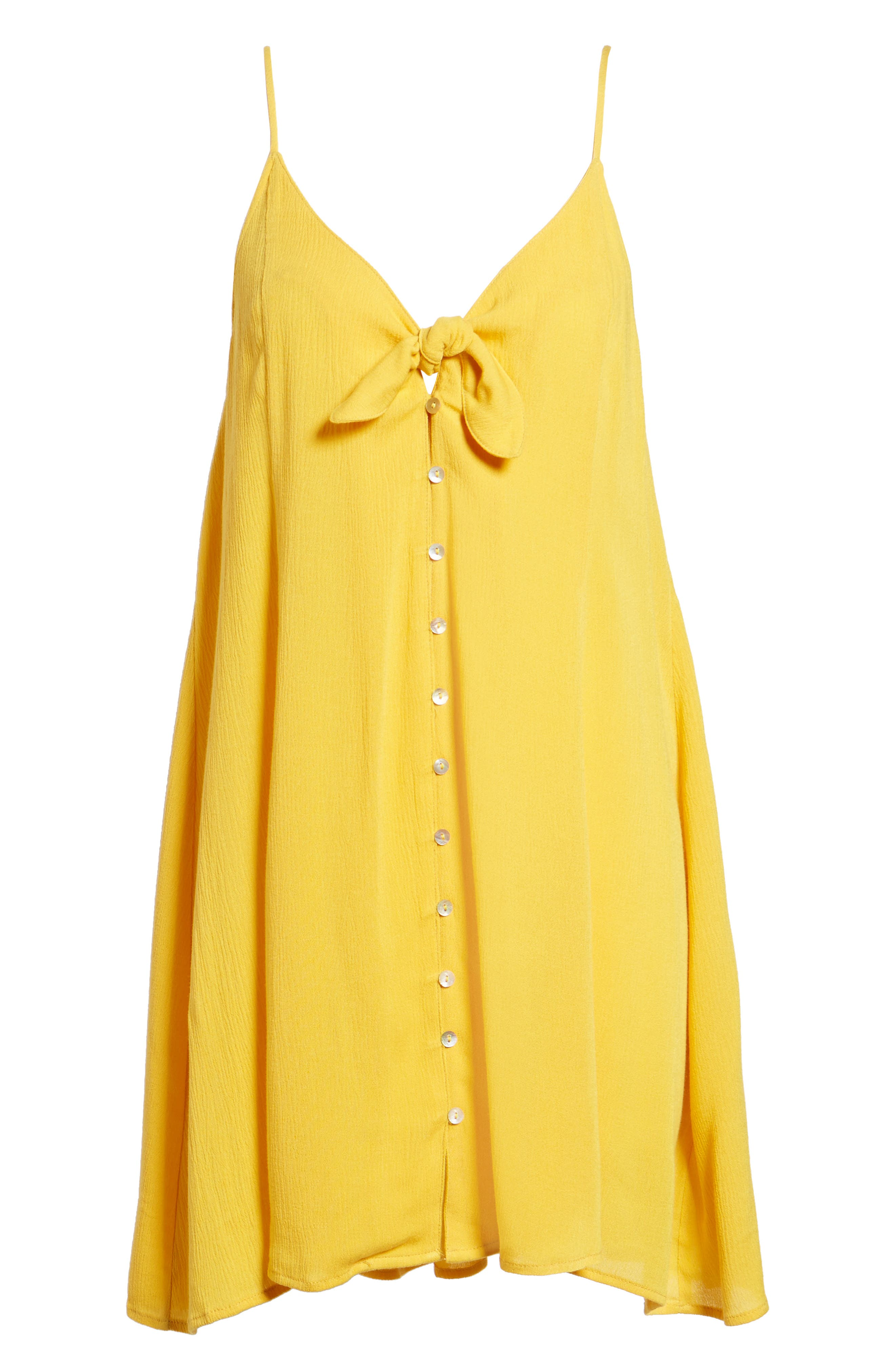 Shine For You Knot Front Dress,                             Alternate thumbnail 6, color,                             701