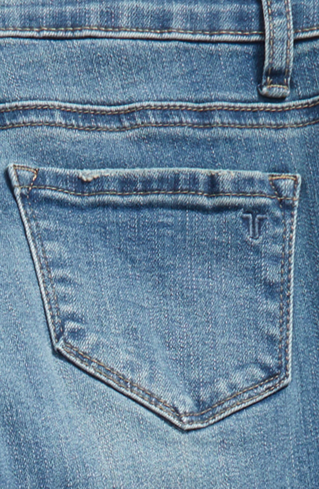 Patch Ankle Skinny Jeans,                             Alternate thumbnail 3, color,                             407