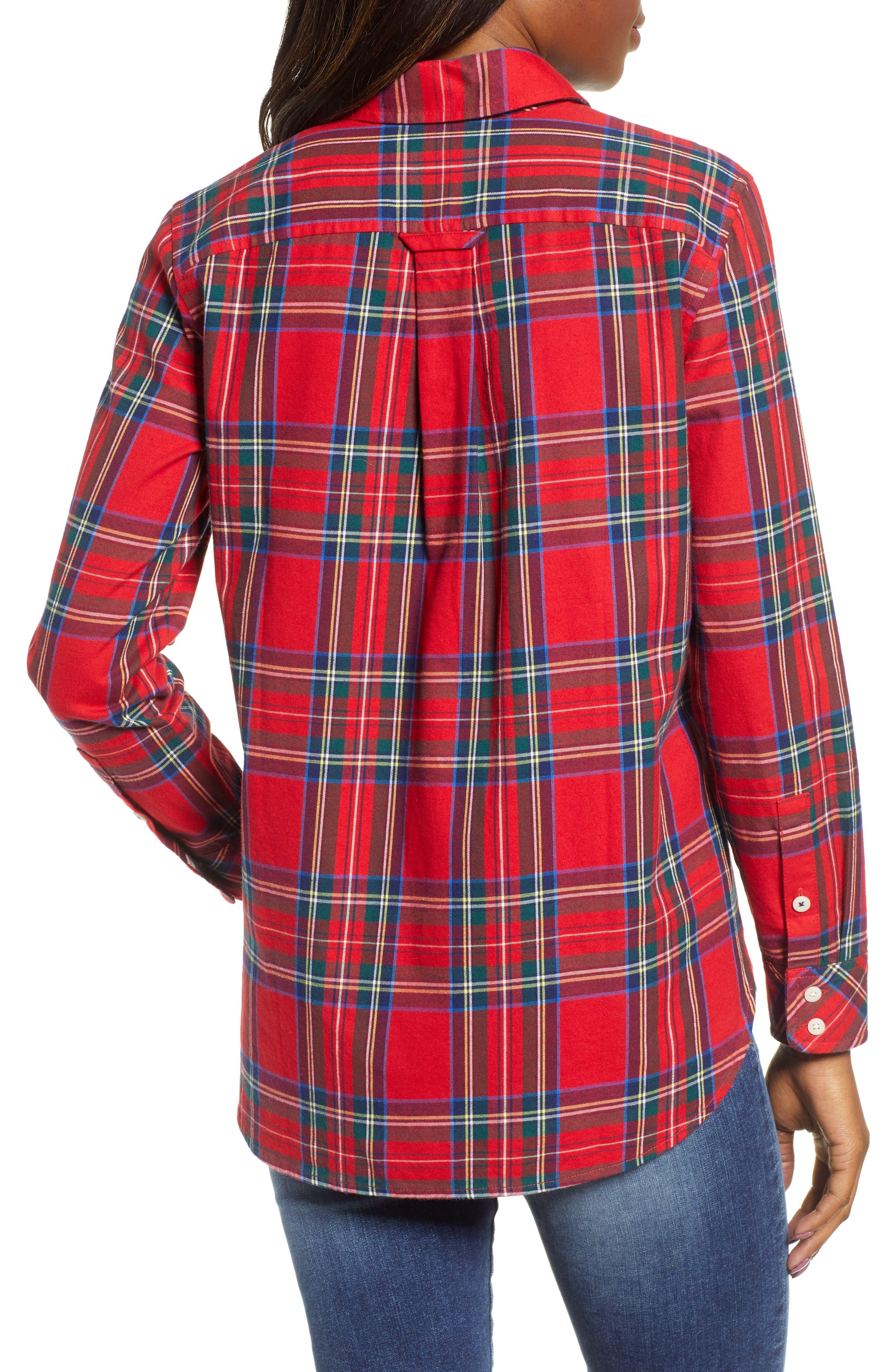 Morgan Jolly Plaid Flannel Shirt,                             Alternate thumbnail 2, color,                             600