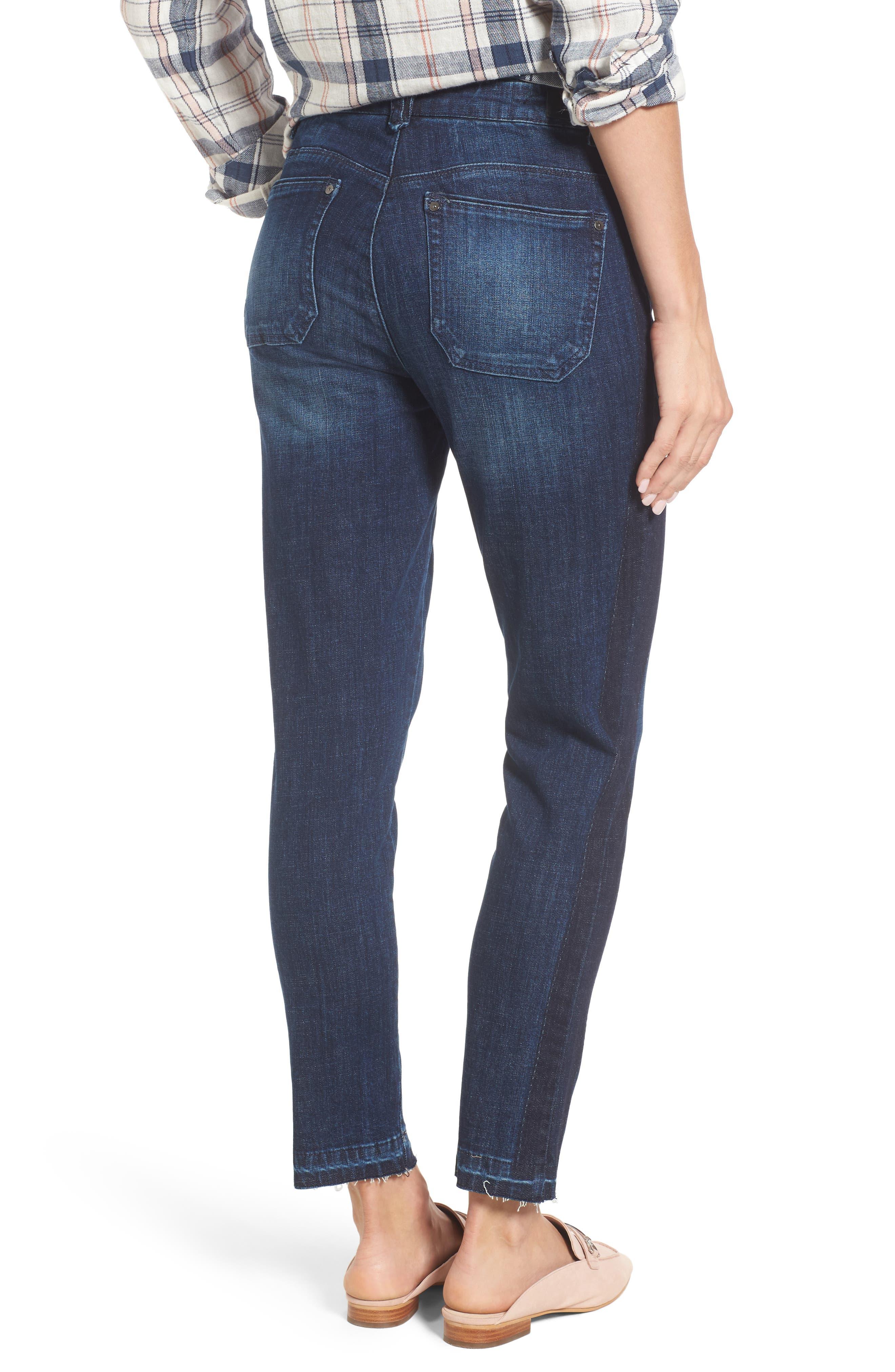 Tuxedo Stripe Skinny Jeans,                             Alternate thumbnail 4, color,