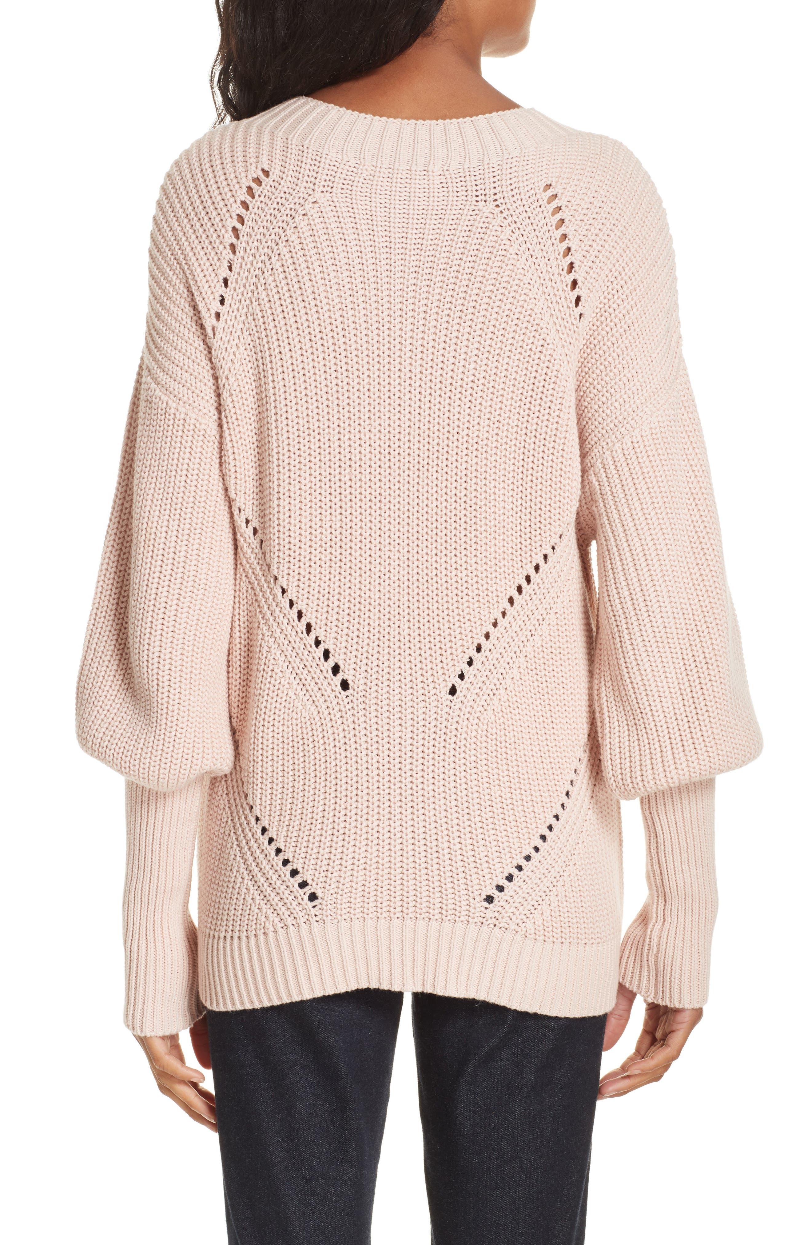 Landyn Blouson Sleeve Sweater,                             Alternate thumbnail 2, color,                             PINK SKY