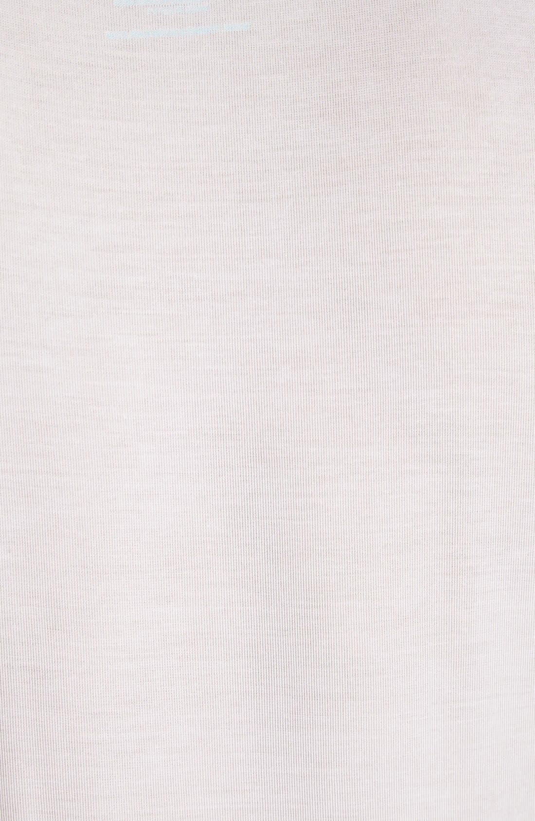 Second Skin Micromodal Deep V-Neck Undershirt,                             Alternate thumbnail 3, color,                             WHITE
