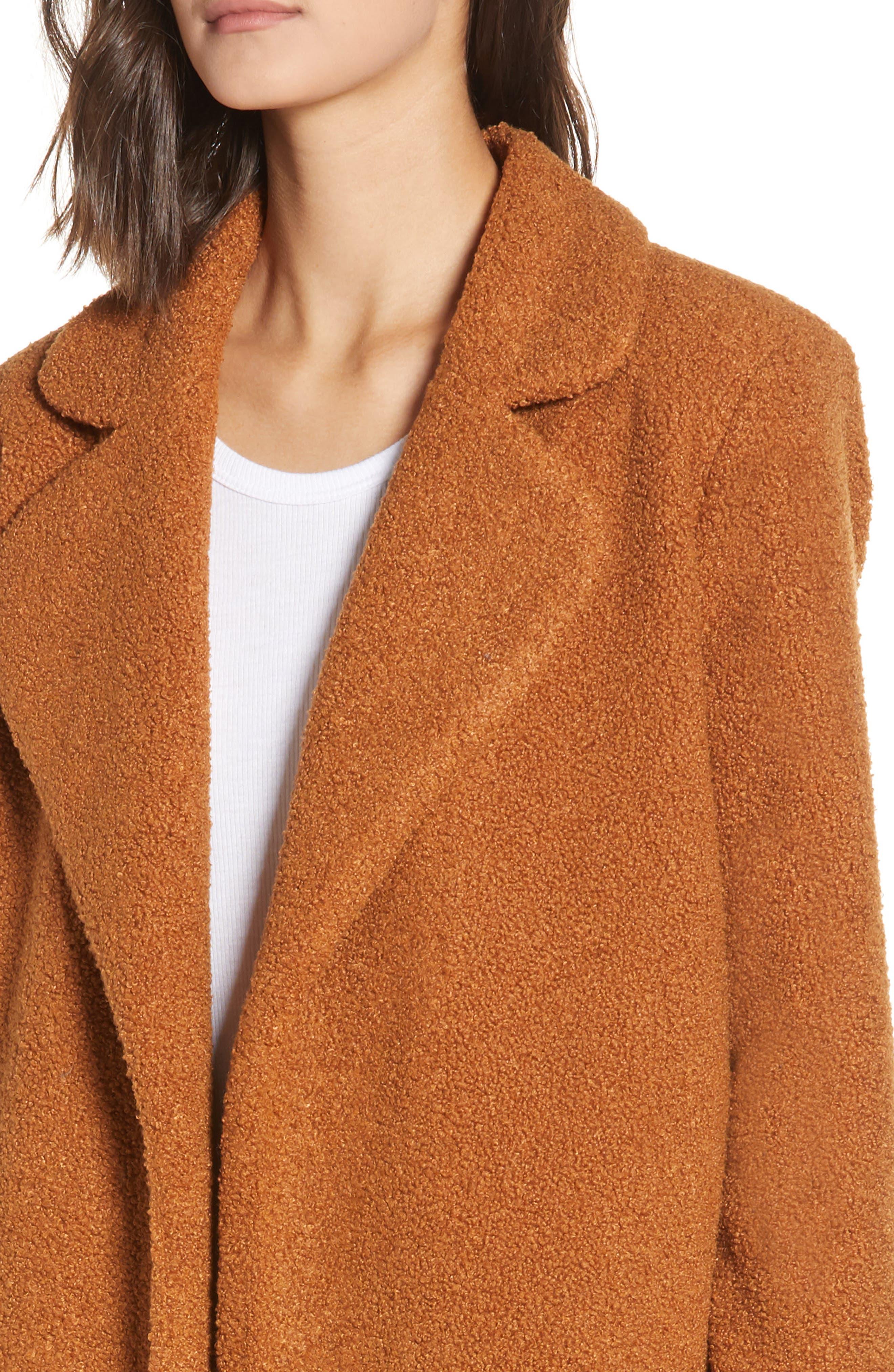 Teddy Bear Coat,                             Alternate thumbnail 4, color,                             MOCHA