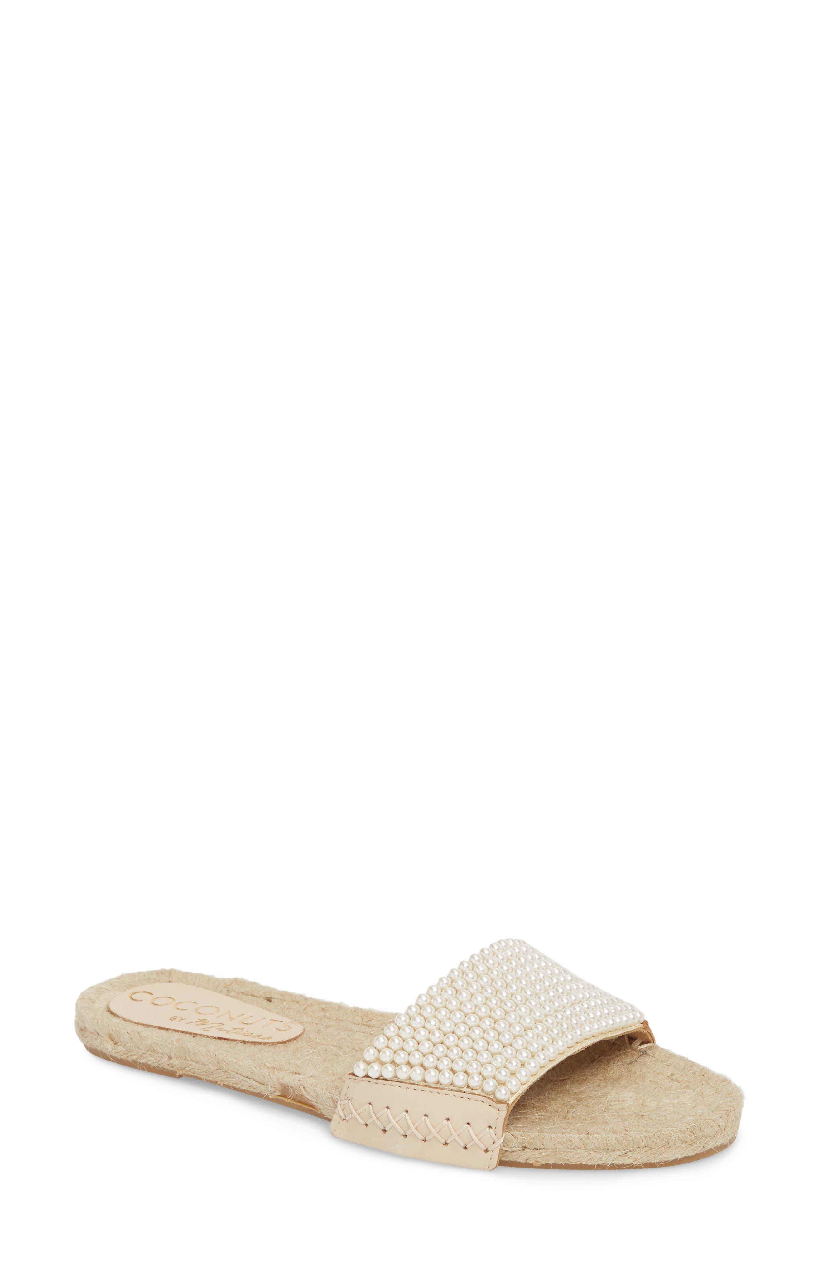 Kimay Slide Sandal,                         Main,                         color, NATURAL LEATHER