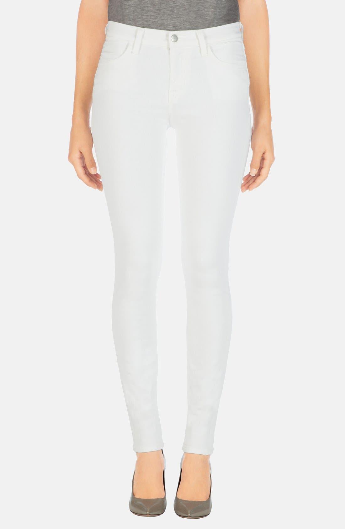 2311 Maria High Waist Super Skinny Jeans,                             Alternate thumbnail 8, color,                             BLANC