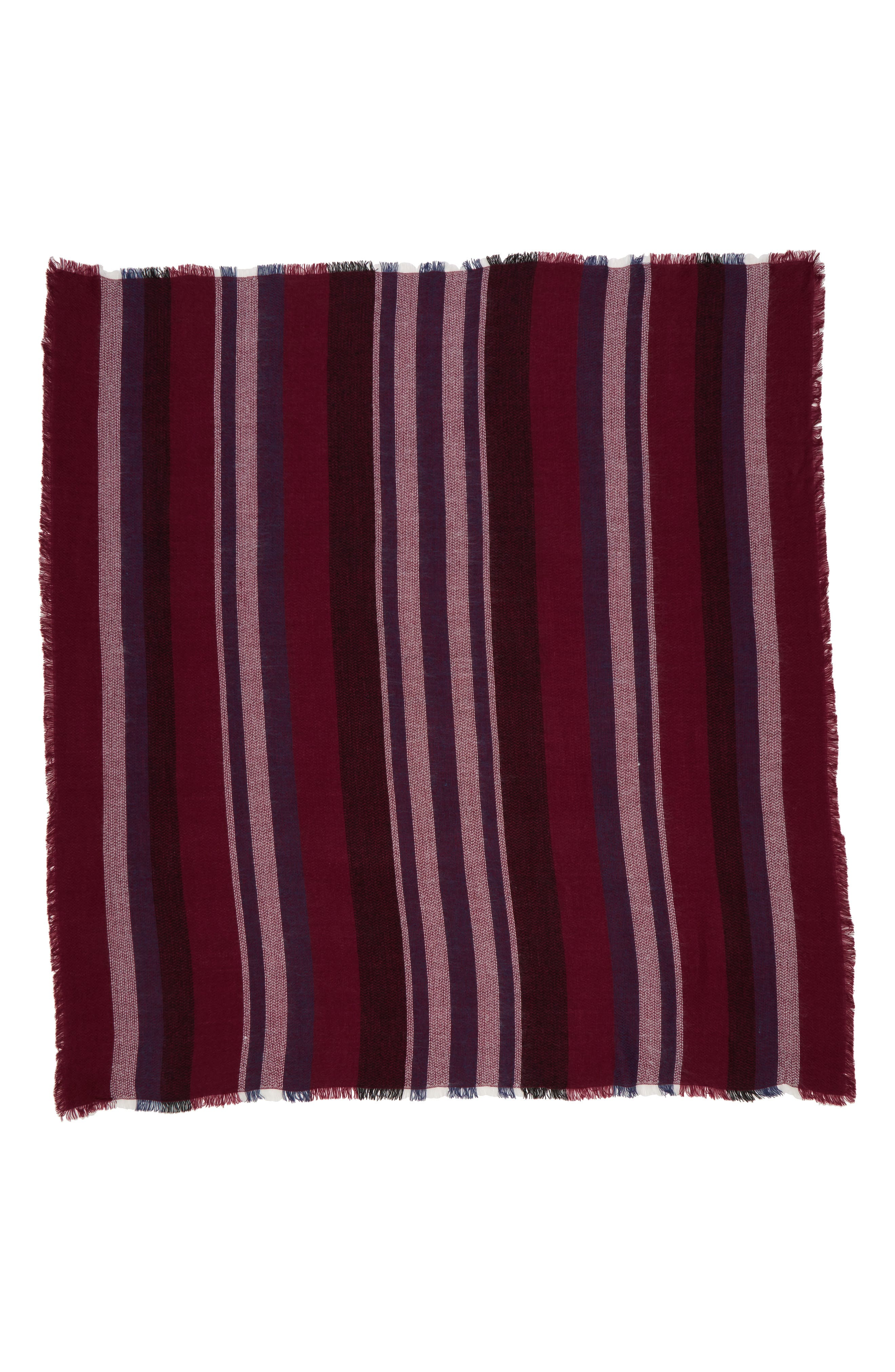 Accessory Collective Stripe Scarf,                             Alternate thumbnail 2, color,                             600