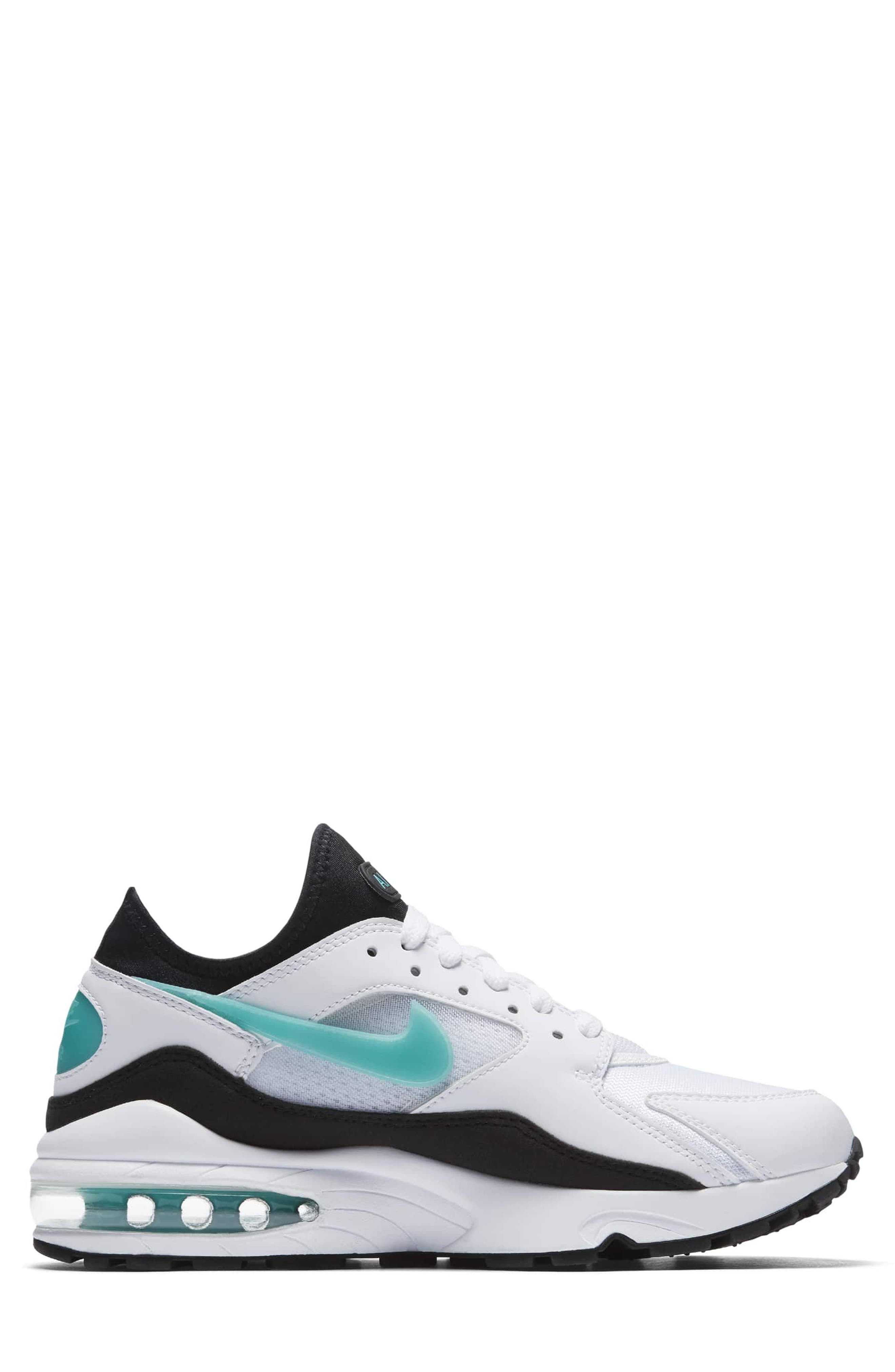 Air Max 93 Sneaker,                             Alternate thumbnail 3, color,                             WHITE/ DUSTY CACTUS