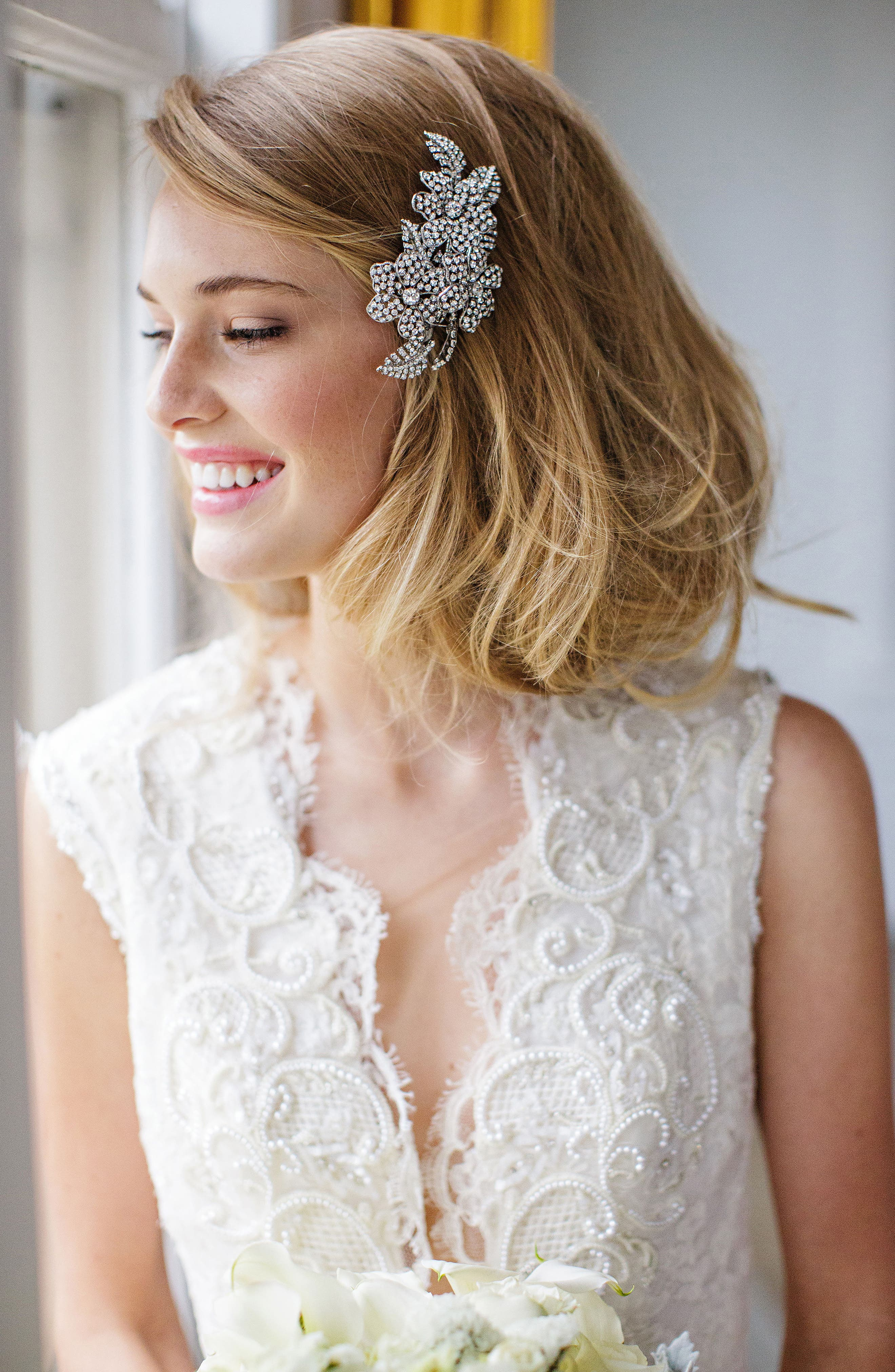 'Esther' Crystal Embellished Hair Clip,                         Main,                         color,
