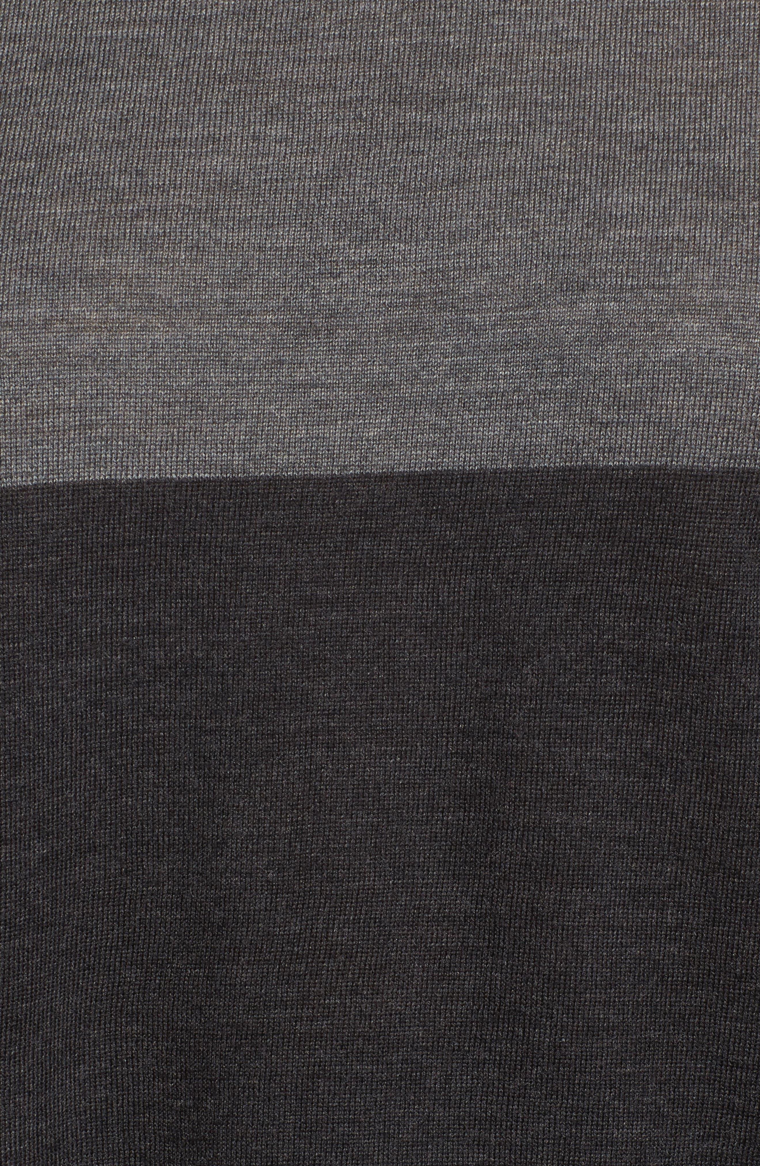 Colorblock Boxy Merino Wool Sweater,                             Alternate thumbnail 5, color,                             021