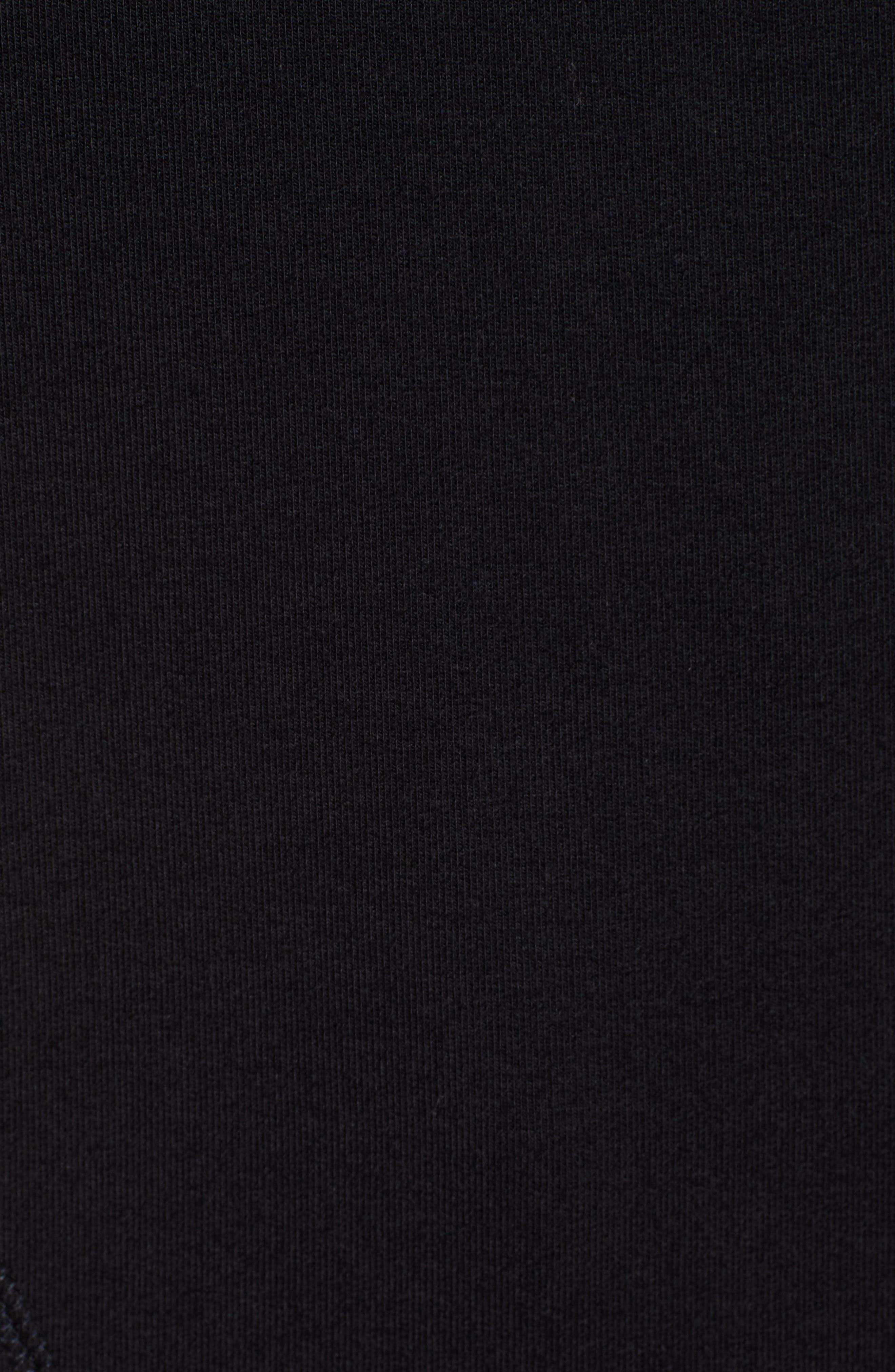 Funnel Neck Sweatshirt,                             Alternate thumbnail 5, color,                             JET BLACK