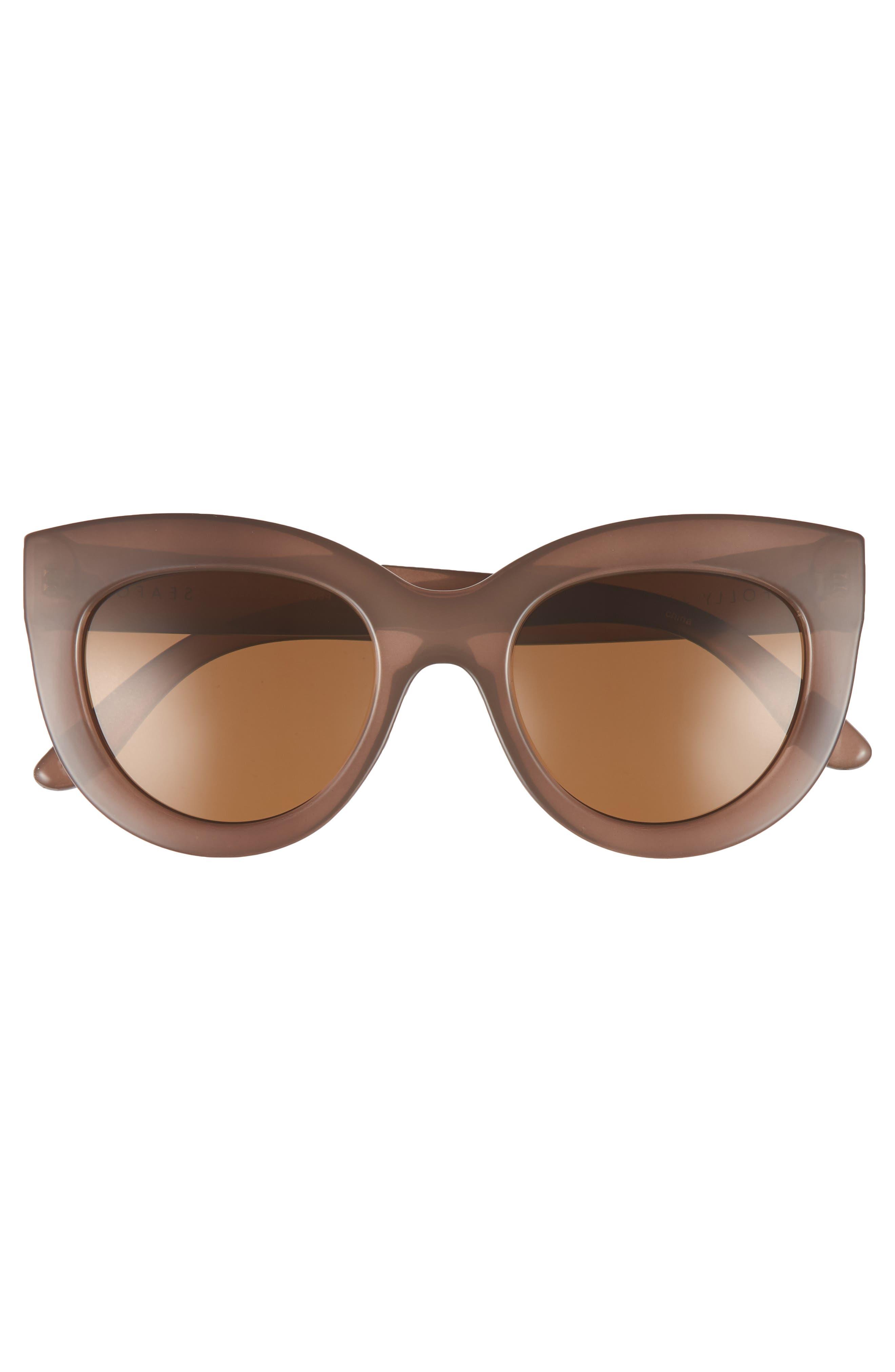 Tortola V2 51mm Polarized Cat Eye Sunglasses,                             Alternate thumbnail 3, color,                             200