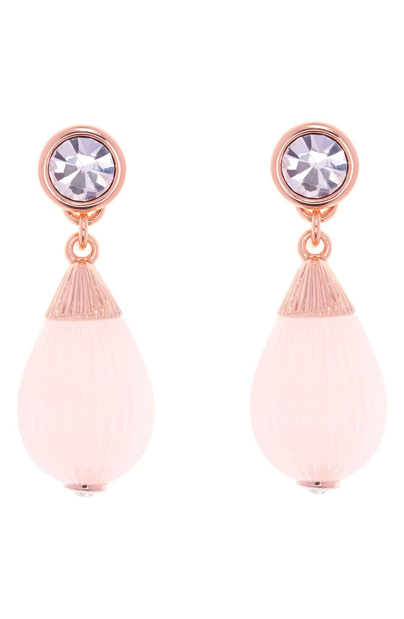Mini Plissé Drop Earrings,                             Main thumbnail 1, color,