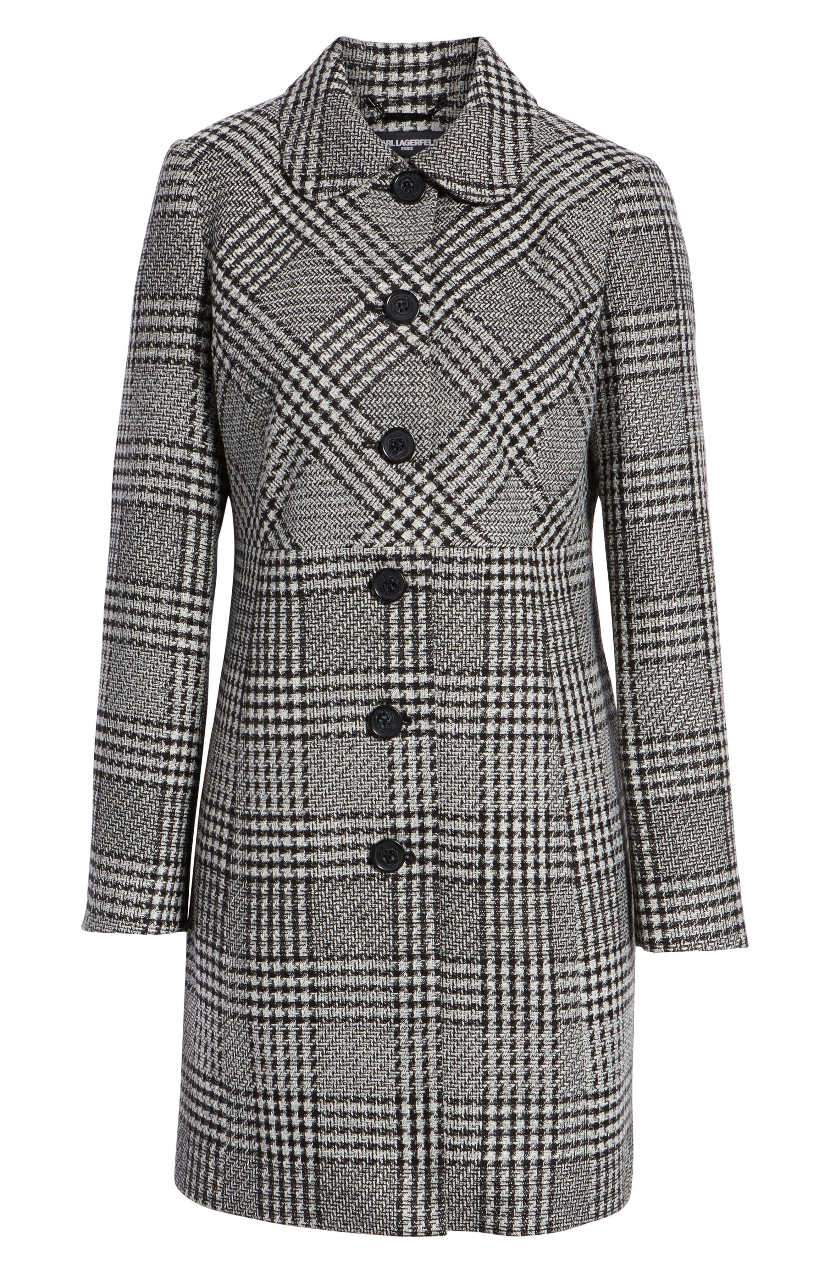 Tweed Topper Coat,                             Alternate thumbnail 5, color,                             006