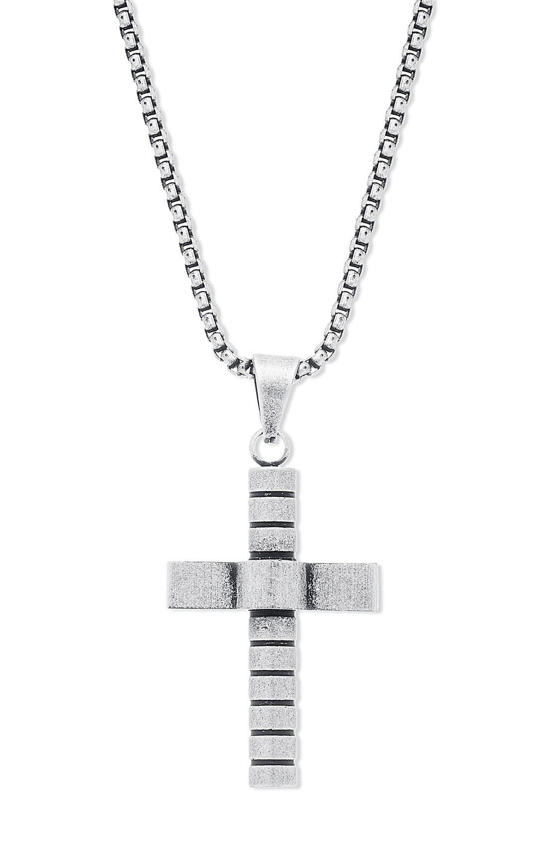 STEVE MADDEN,                             Cross Pendant Necklace,                             Alternate thumbnail 2, color,                             040