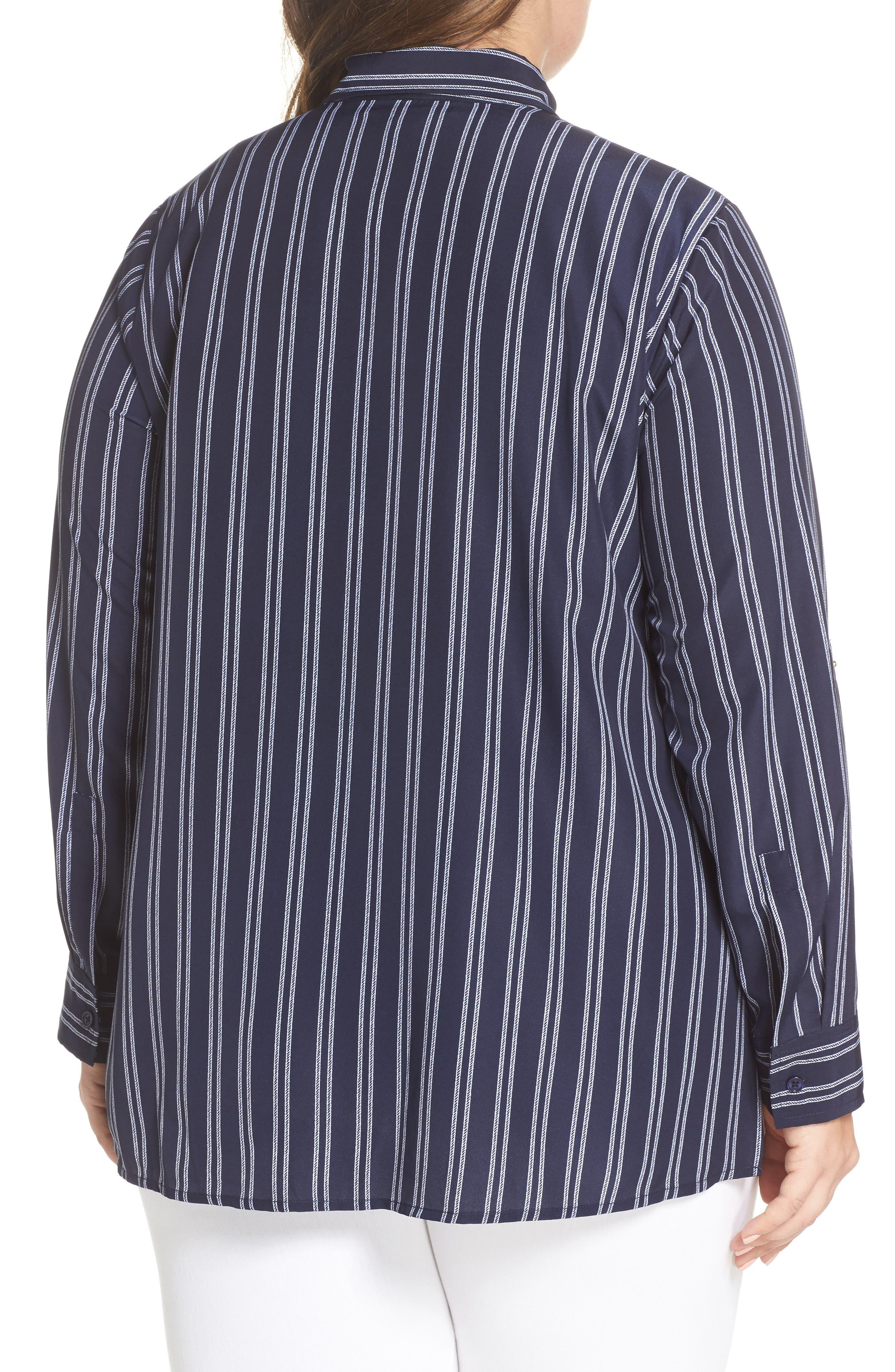 Bengal Stripe Zip Shirt Jacket,                             Alternate thumbnail 2, color,                             456