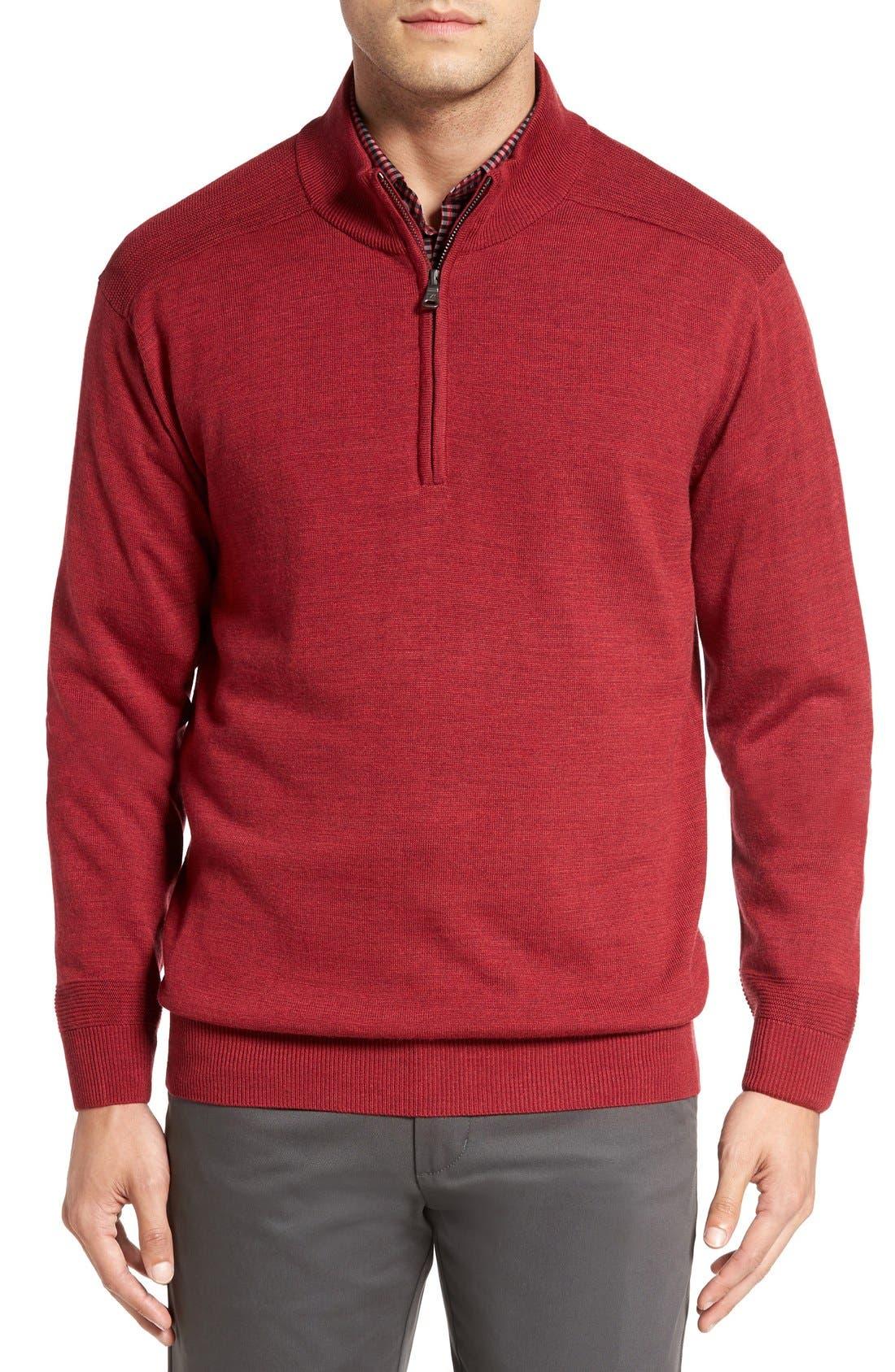 Douglas Quarter Zip Wool Blend Sweater,                             Main thumbnail 6, color,