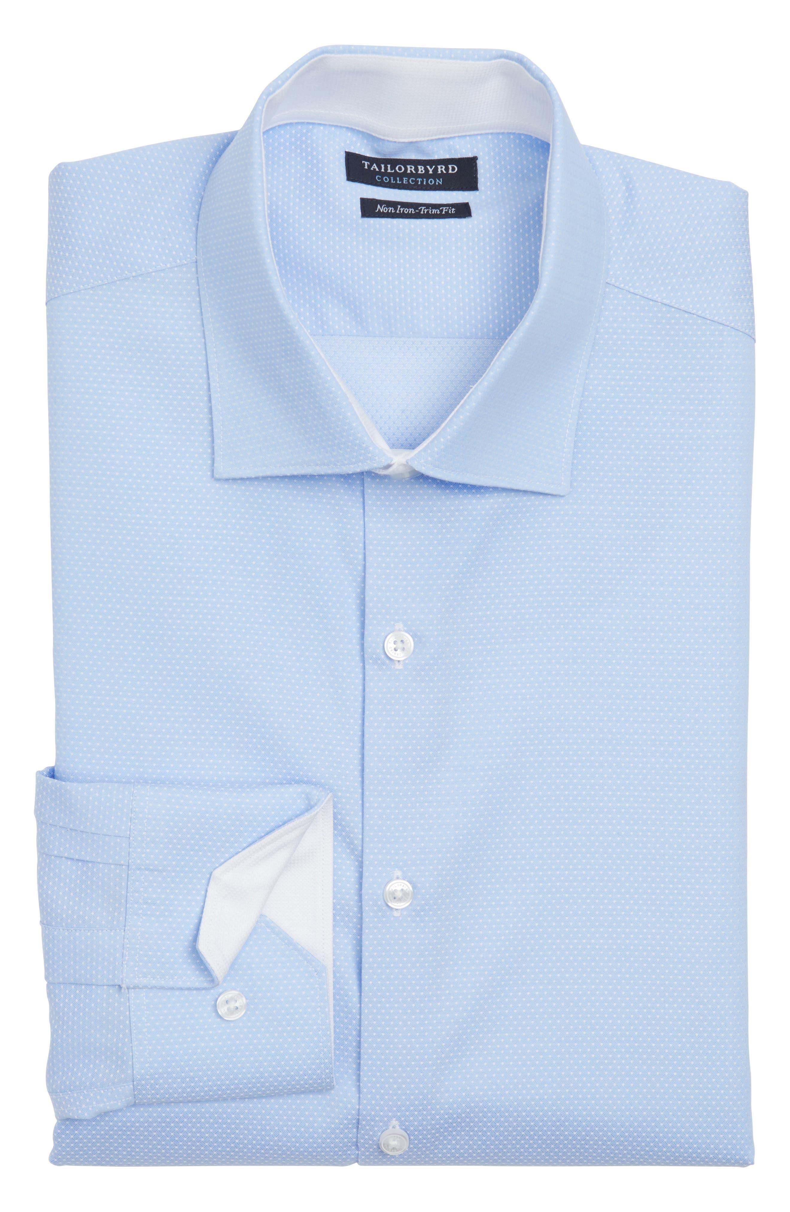 Trim Fit Non-Iron Dot Dress Shirt,                         Main,                         color, 450