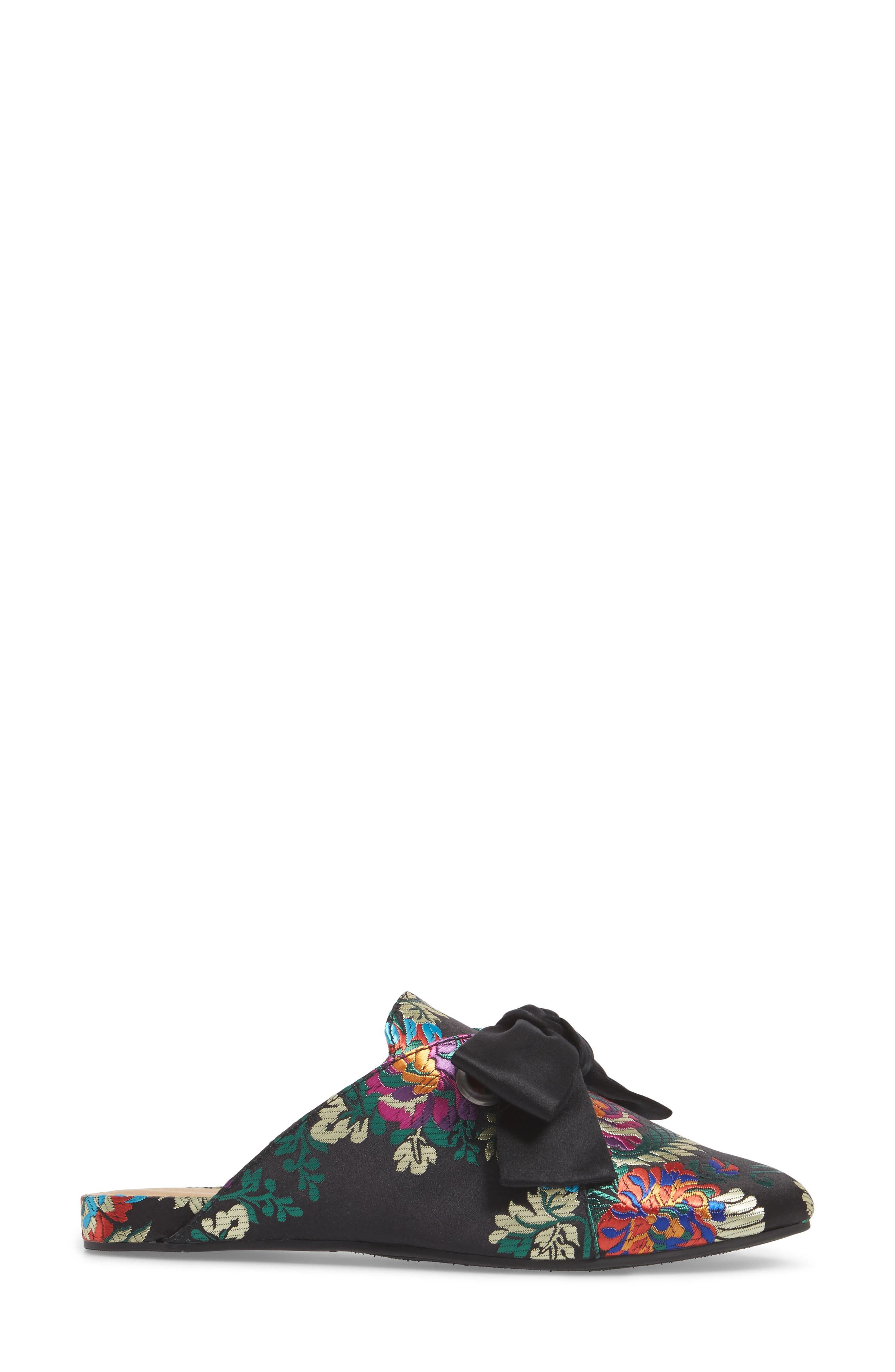 Florean Bow Loafer Mule,                             Alternate thumbnail 3, color,                             001