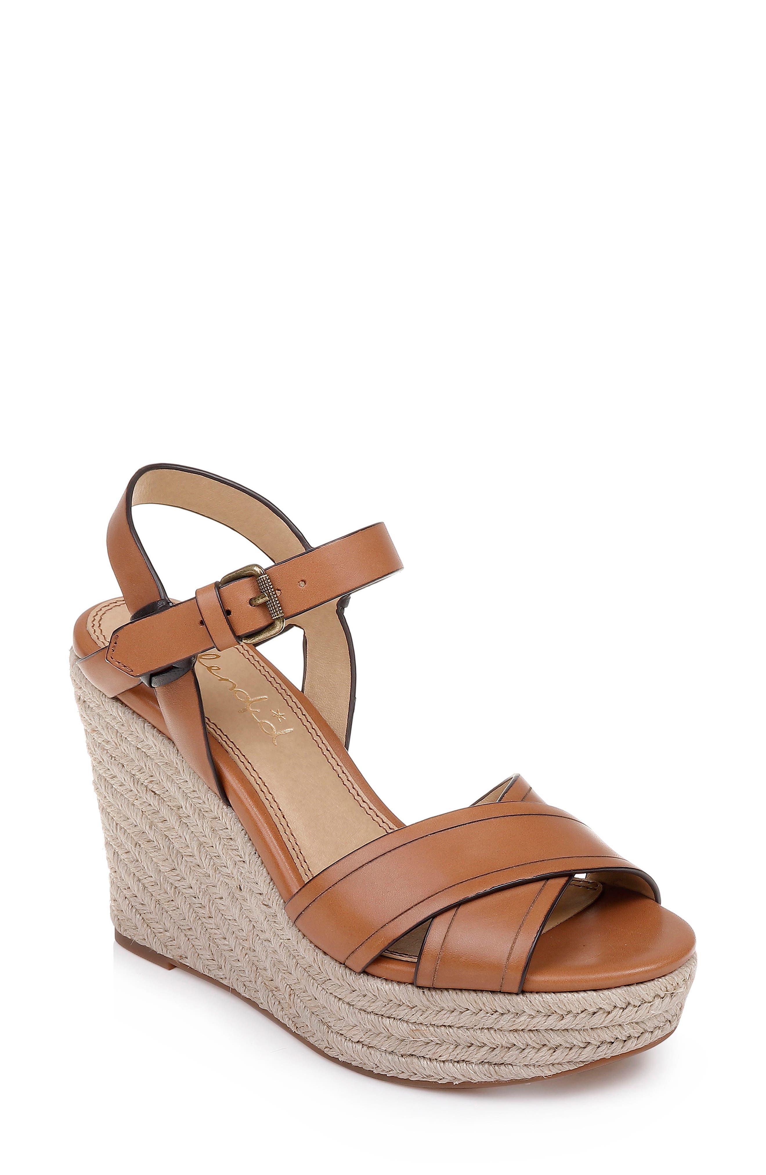 7cb44fc037b Shop Splendid Taffeta Espadrille Wedge Sandal In Brick Leather