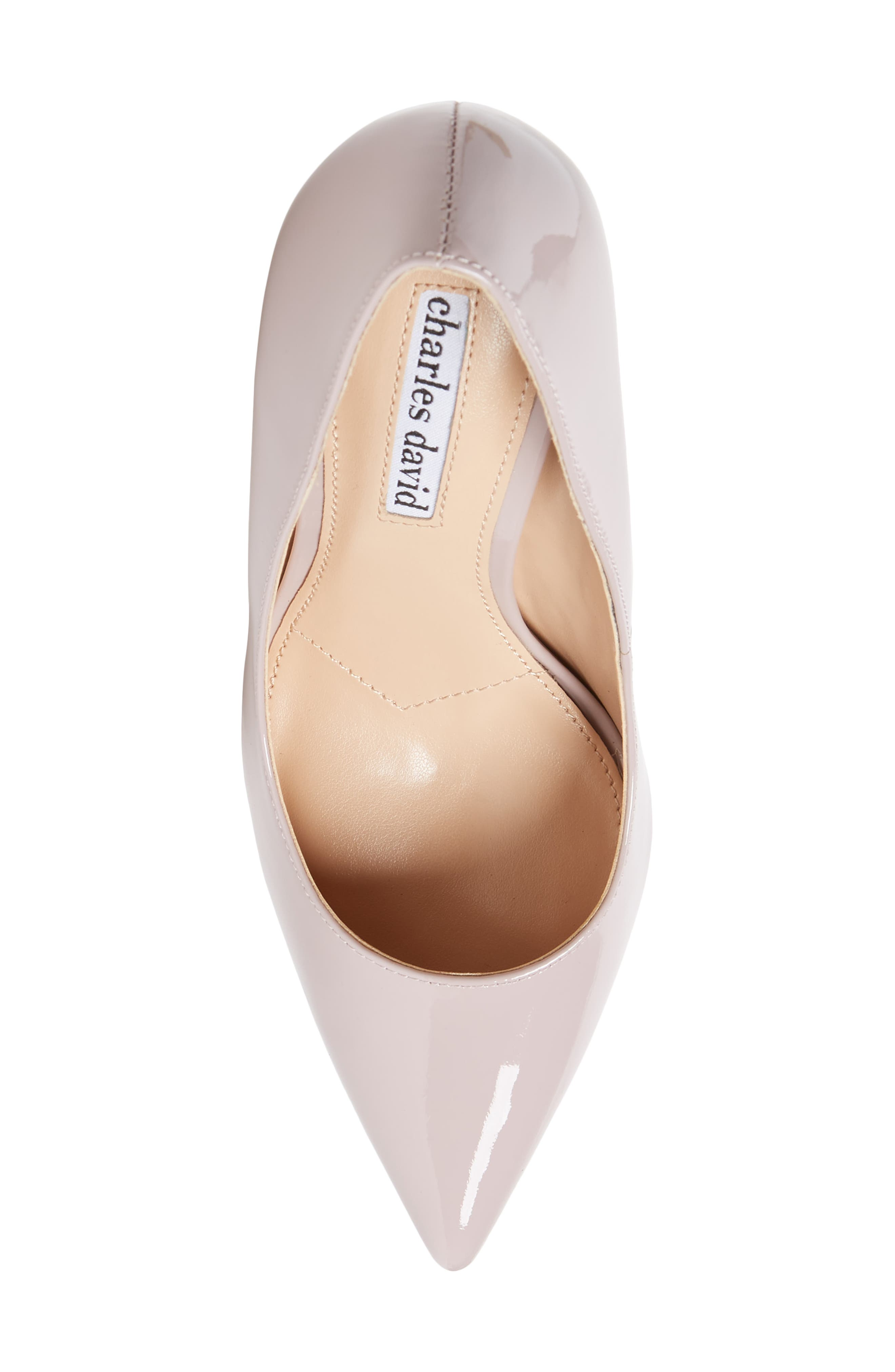 Calessi Pointy Toe Pump,                             Alternate thumbnail 5, color,                             LAVENDER PATENT LEATHER
