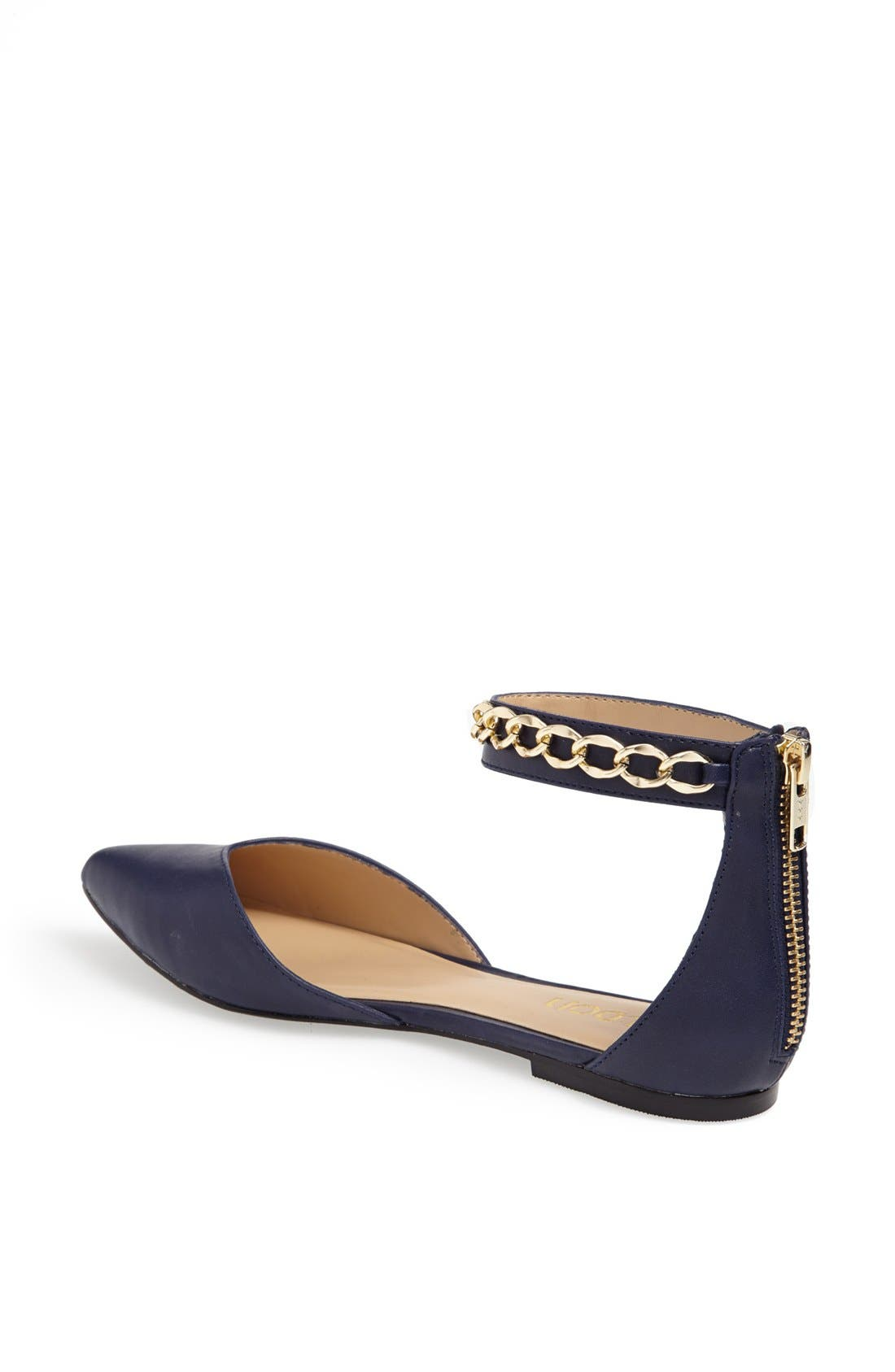 'Anya' Ankle Strap D'Orsay Flat,                             Alternate thumbnail 16, color,