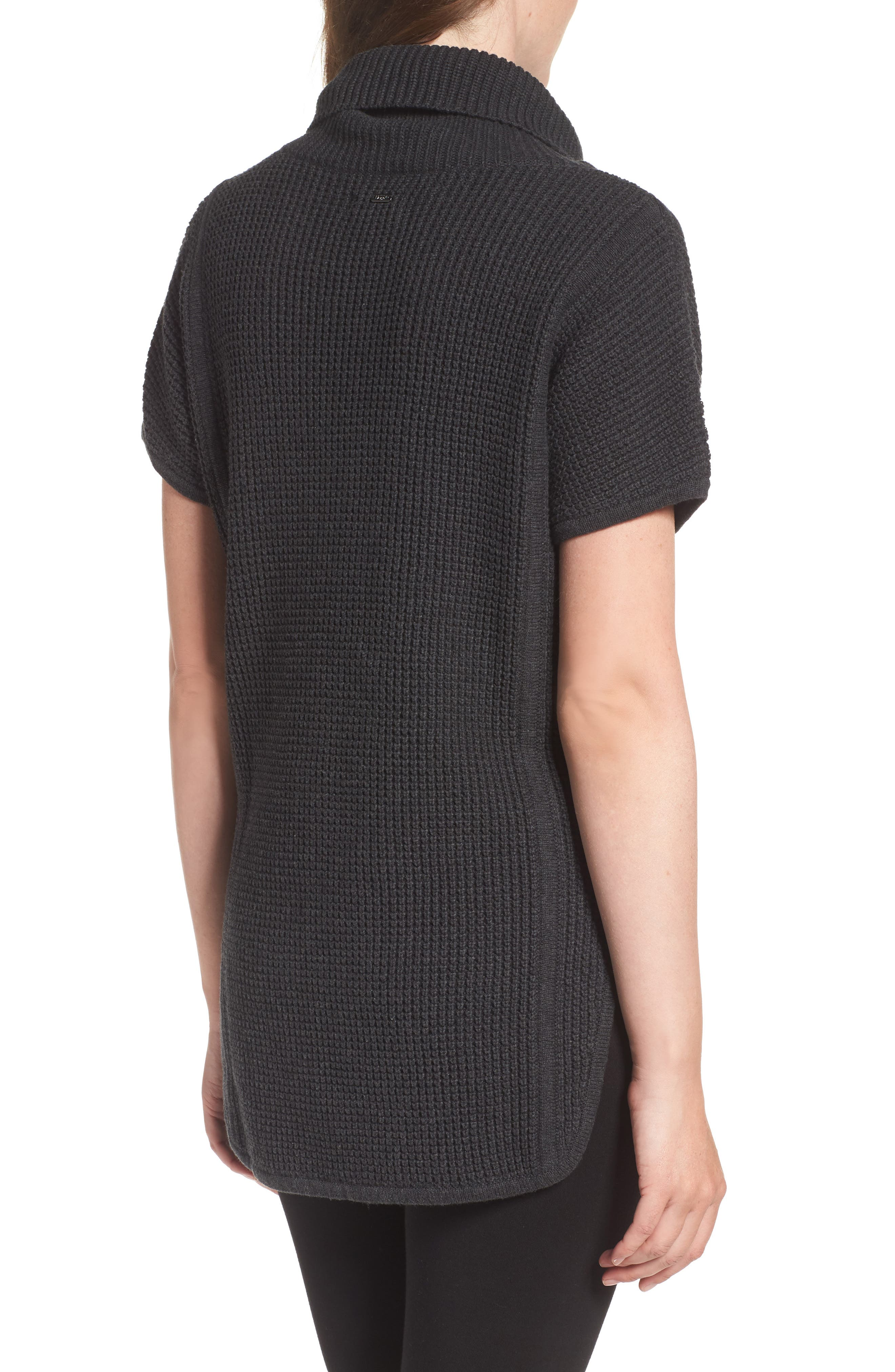 'Selby' Turtleneck Cotton Knit Pullover,                             Alternate thumbnail 2, color,                             001