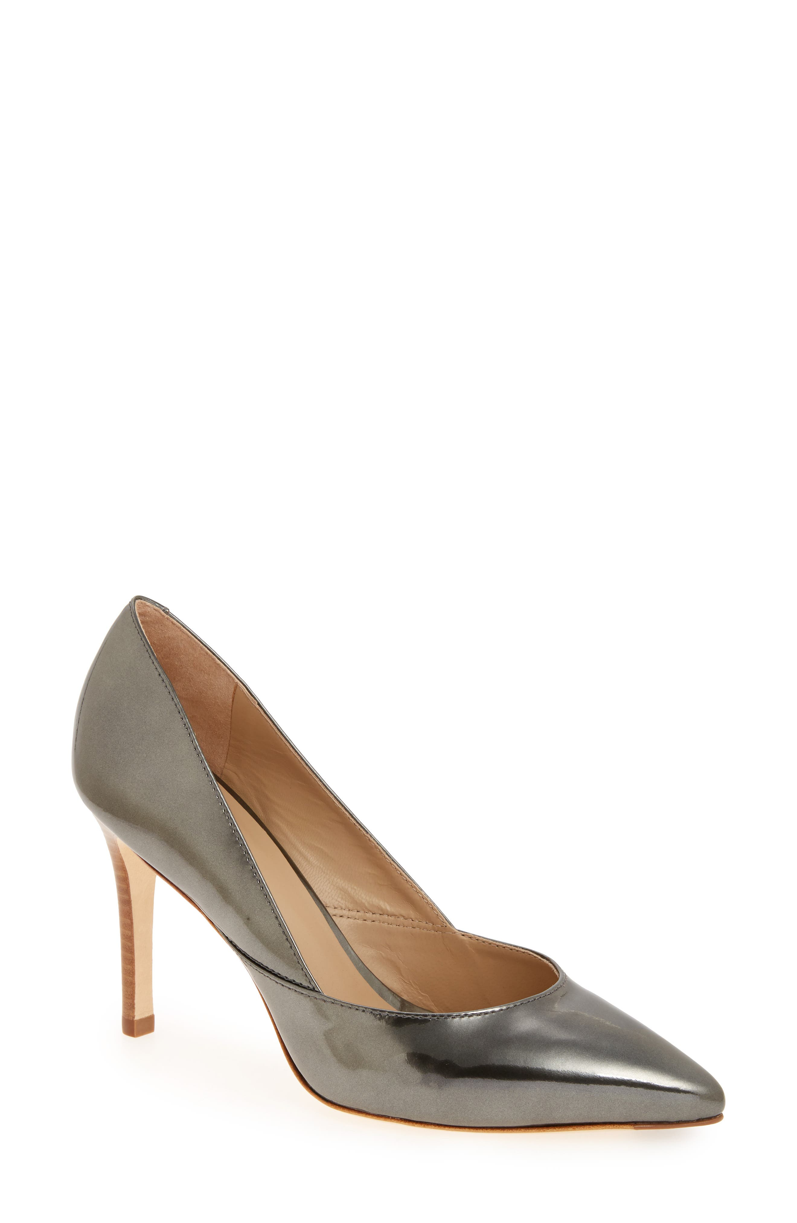 'Vanessa' Pointy Toe Leather Pump,                             Main thumbnail 4, color,