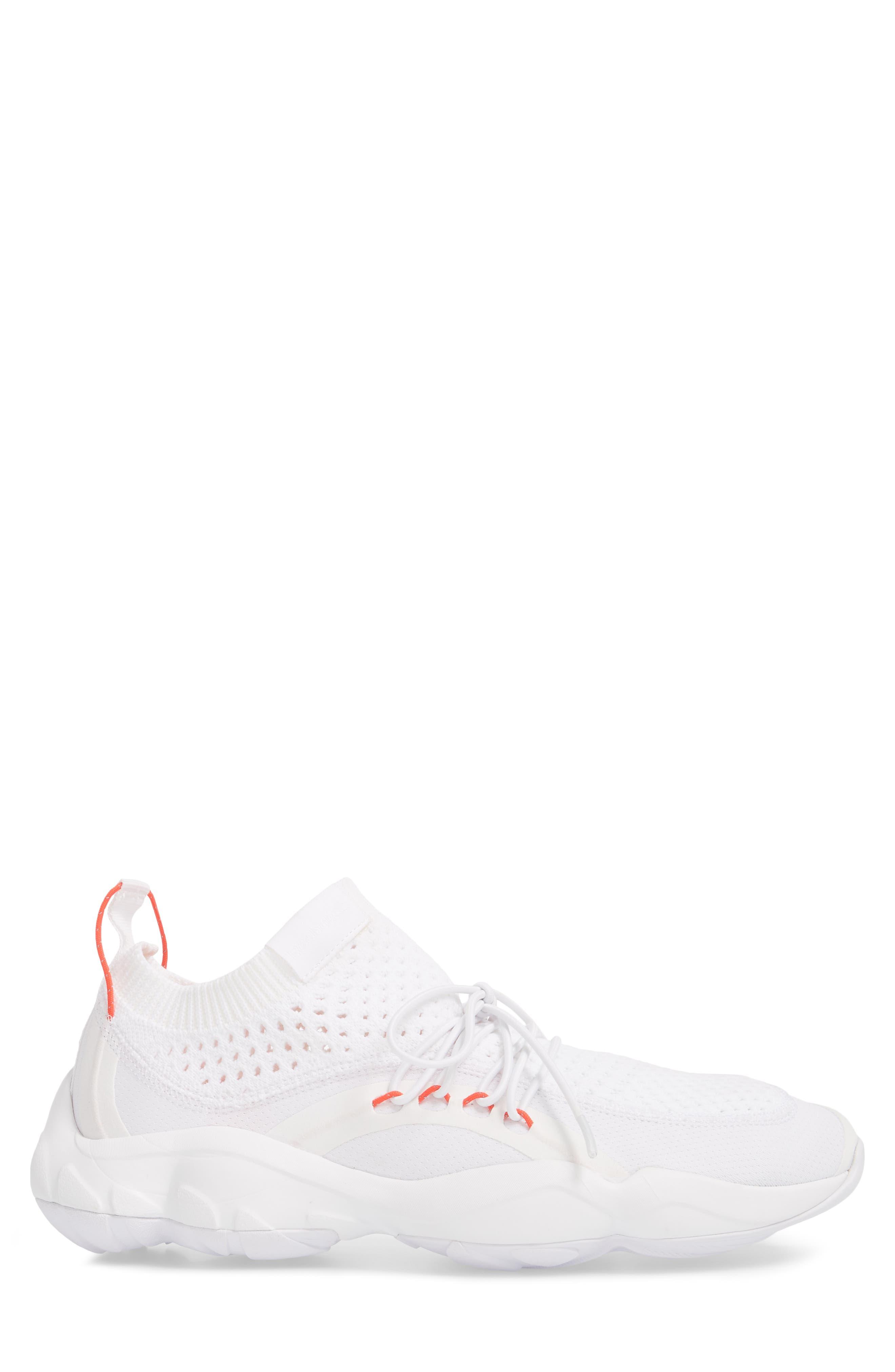 DMX Fusion NR Sneaker,                             Alternate thumbnail 3, color,                             WHITE/ BLACK/ NEON CHERRY