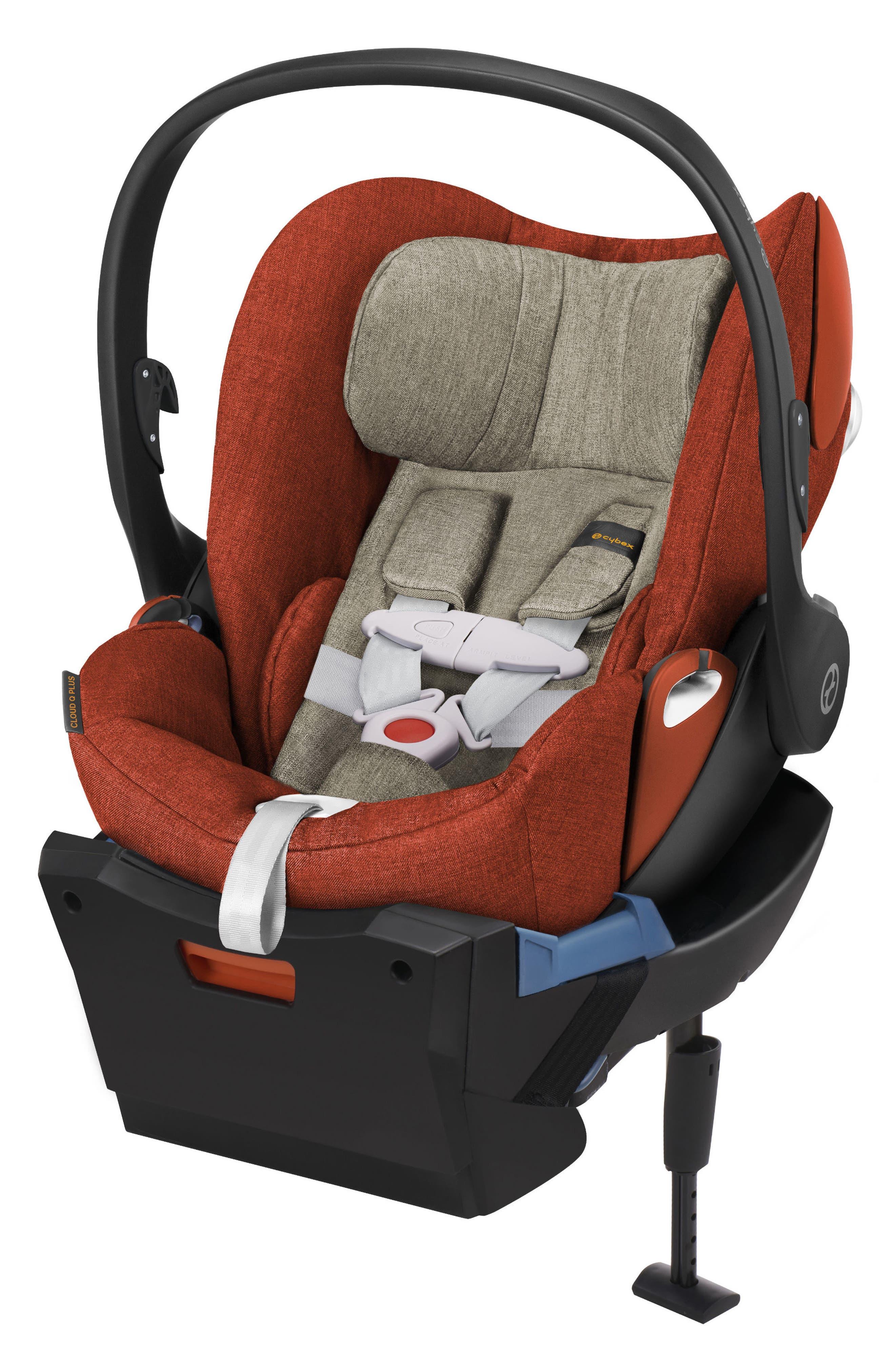 Cloud Q Plus Infant Car Seat & Base,                         Main,                         color, AUTUMN GOLD