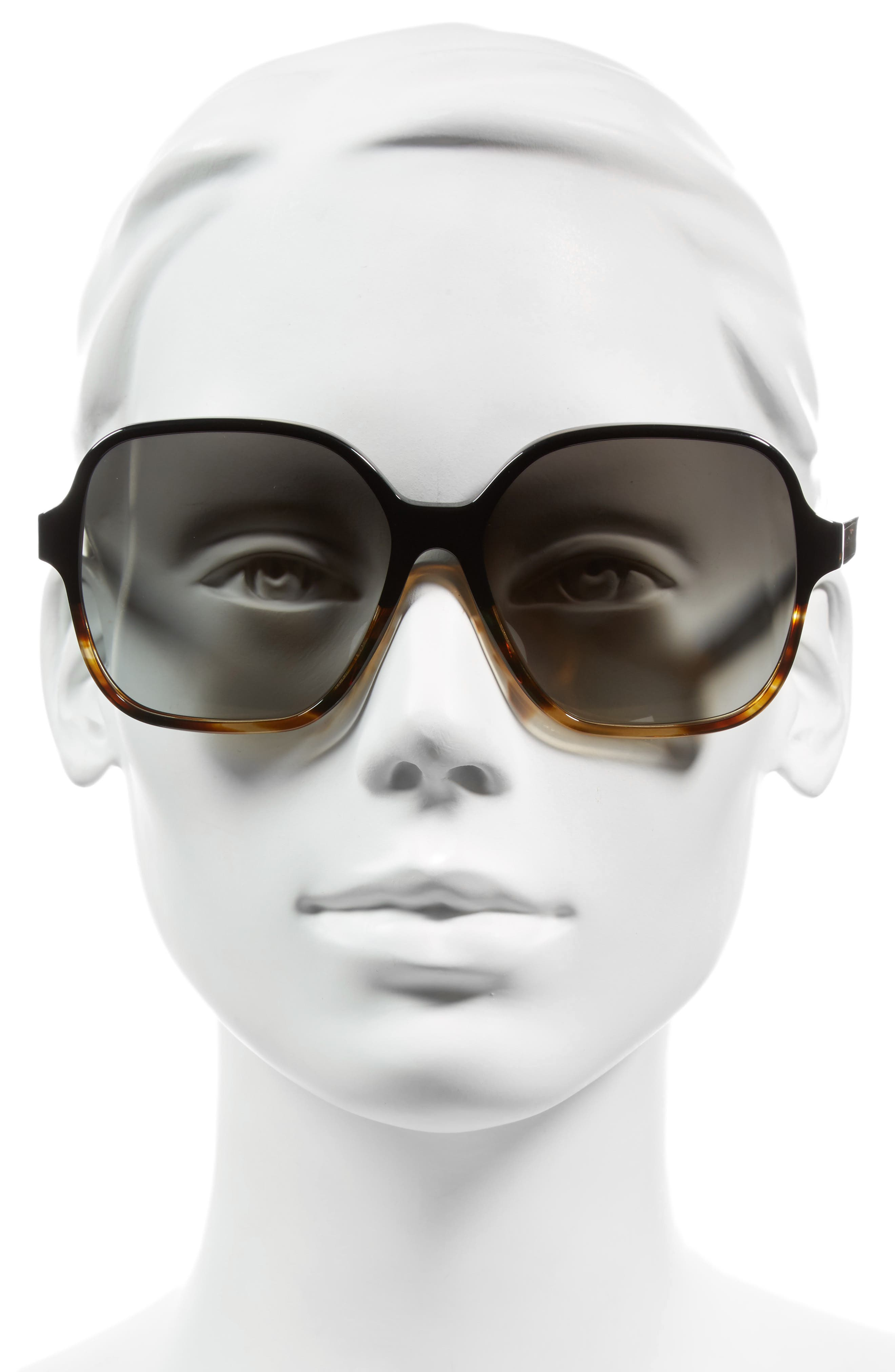 Iconic Square 59mm Sunglasses,                             Alternate thumbnail 8, color,