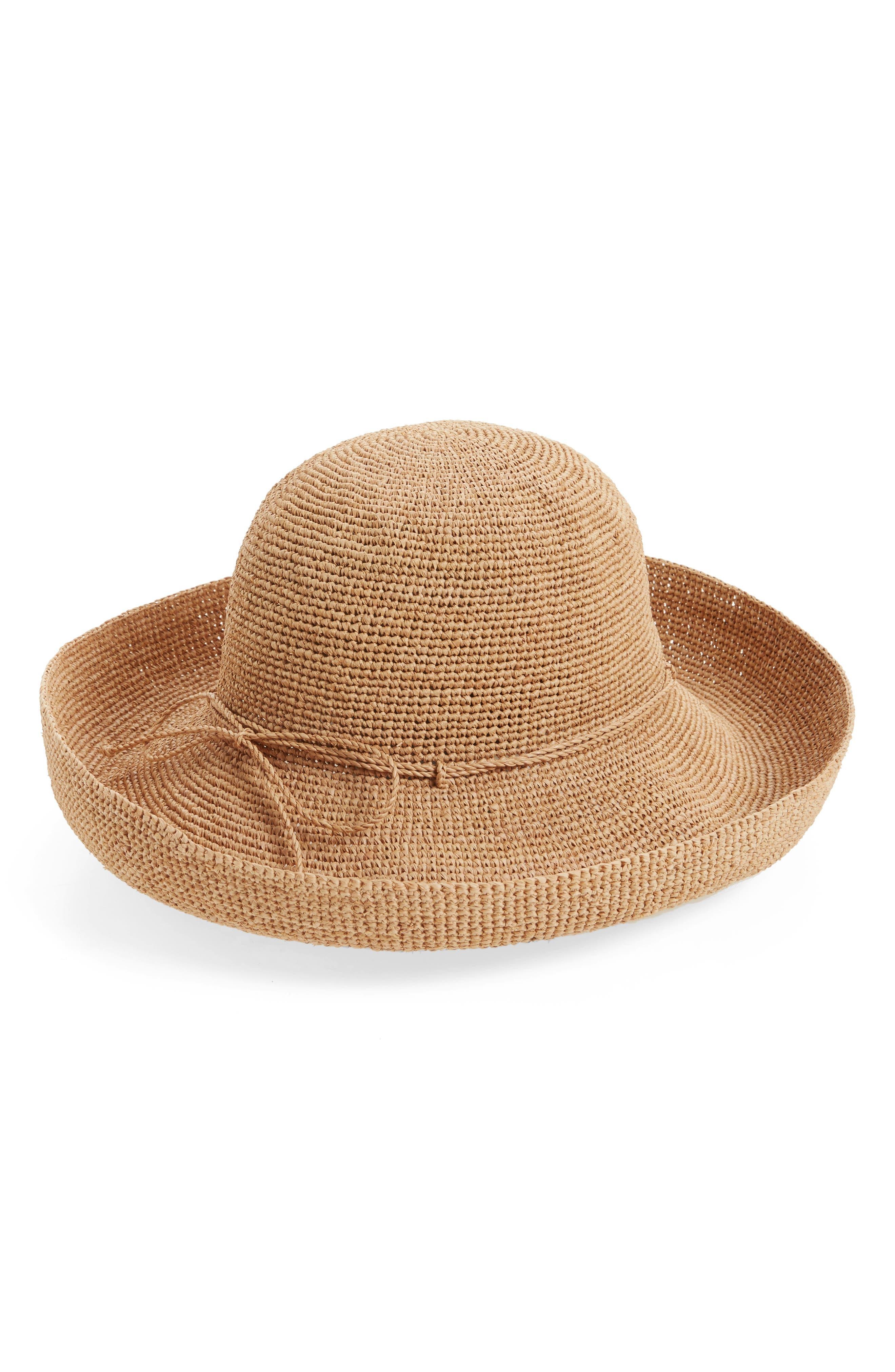 'Provence 12' Packable Raffia Hat,                             Main thumbnail 17, color,