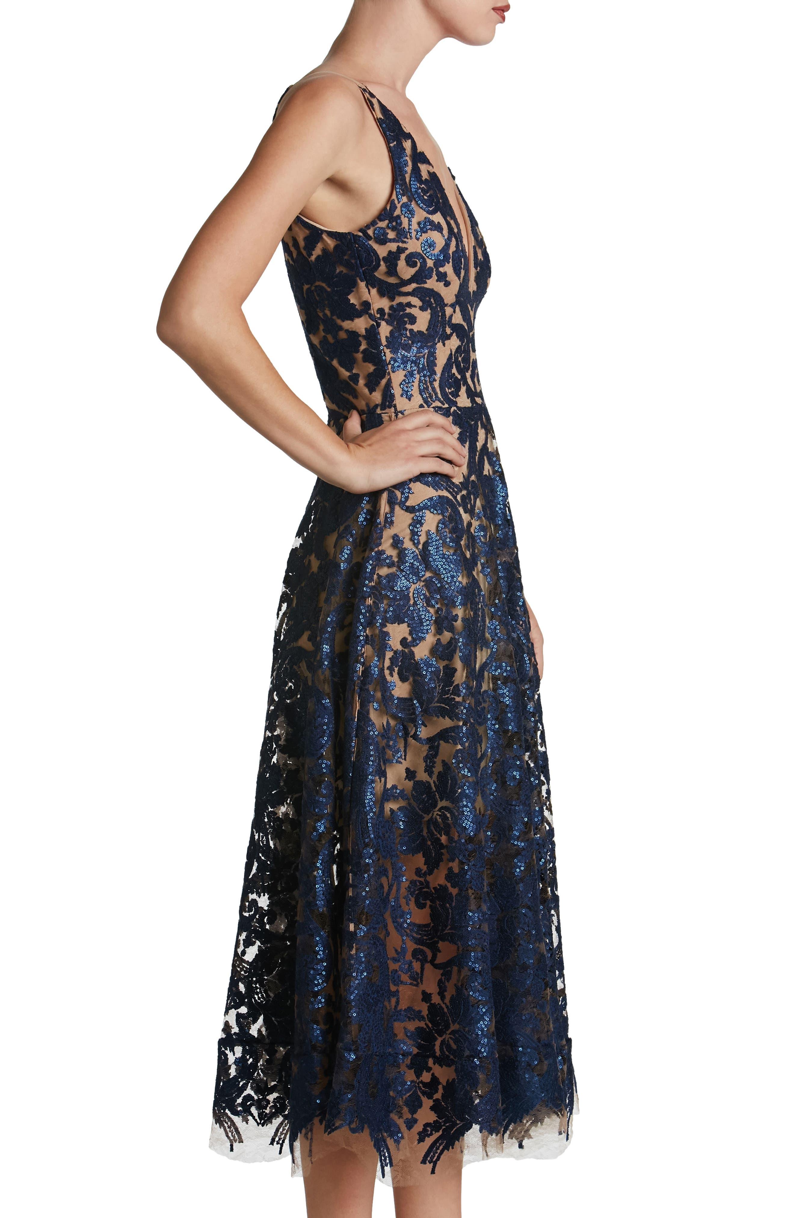 Blair Embellished Fit & Flare Dress,                             Alternate thumbnail 19, color,