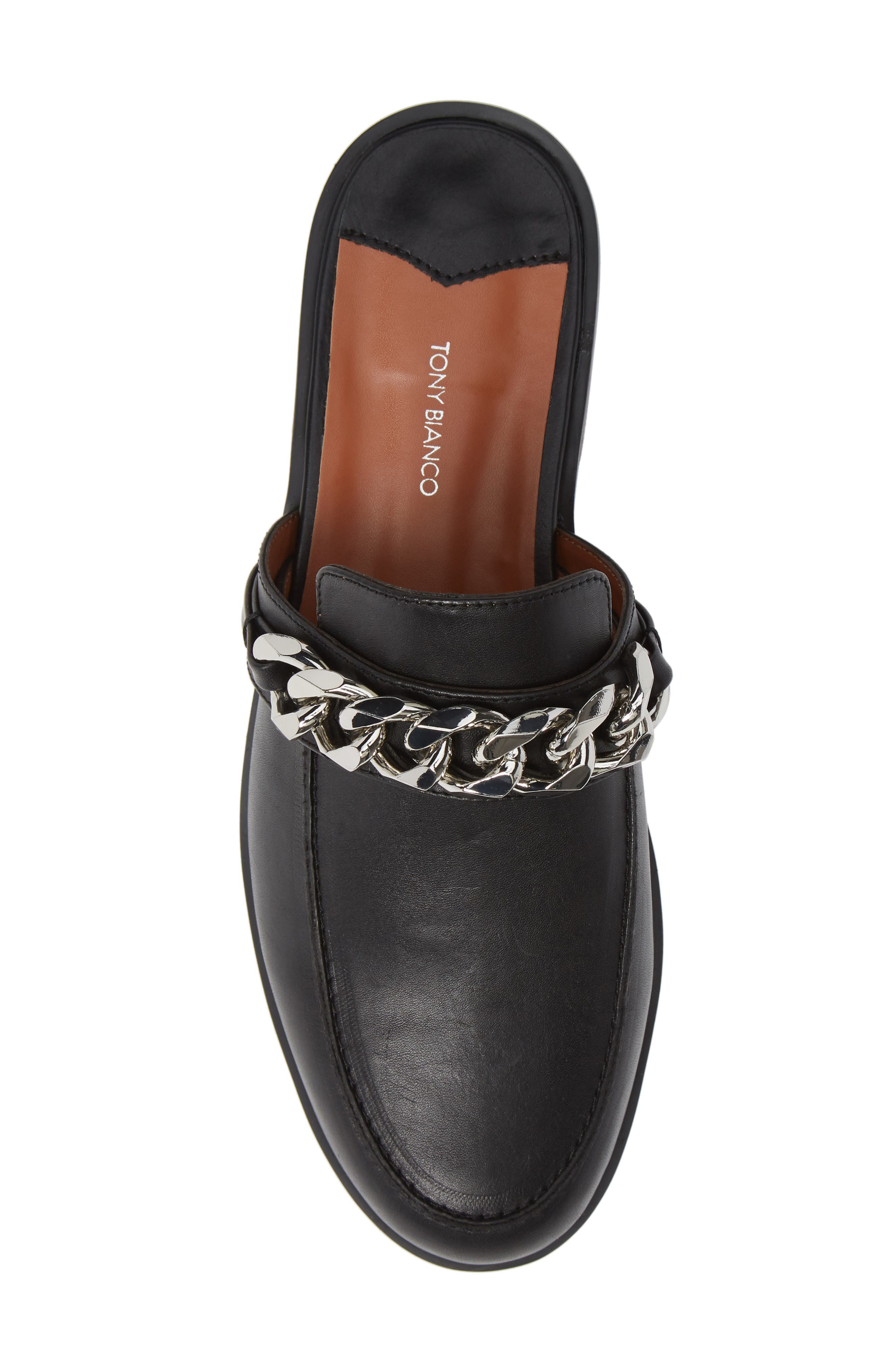 TONY BIANCO,                             Dion Mule,                             Alternate thumbnail 5, color,                             BLACK SMOOTH LEATHER