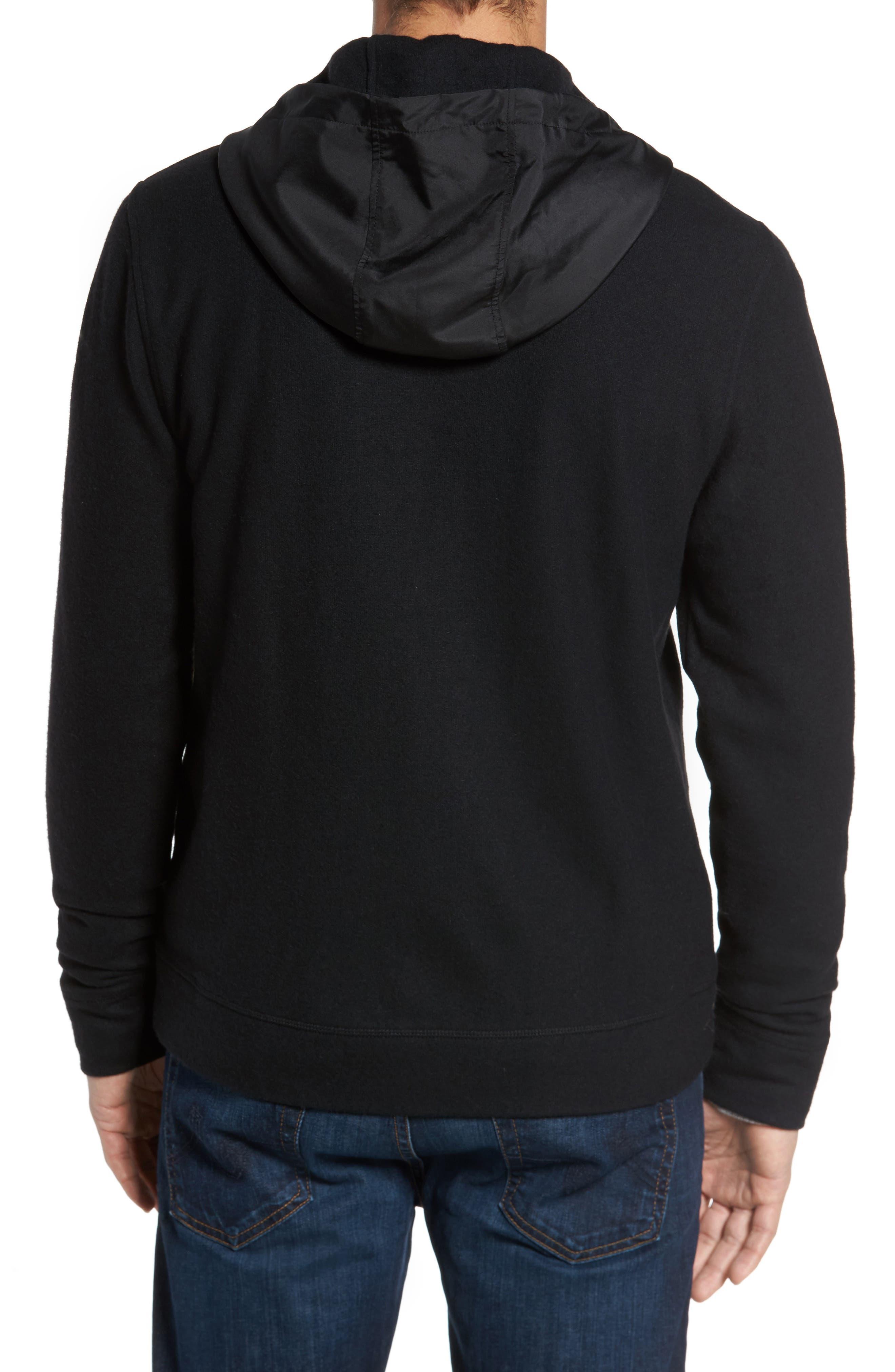 Wool Blend Hooded Cardigan,                             Alternate thumbnail 3, color,