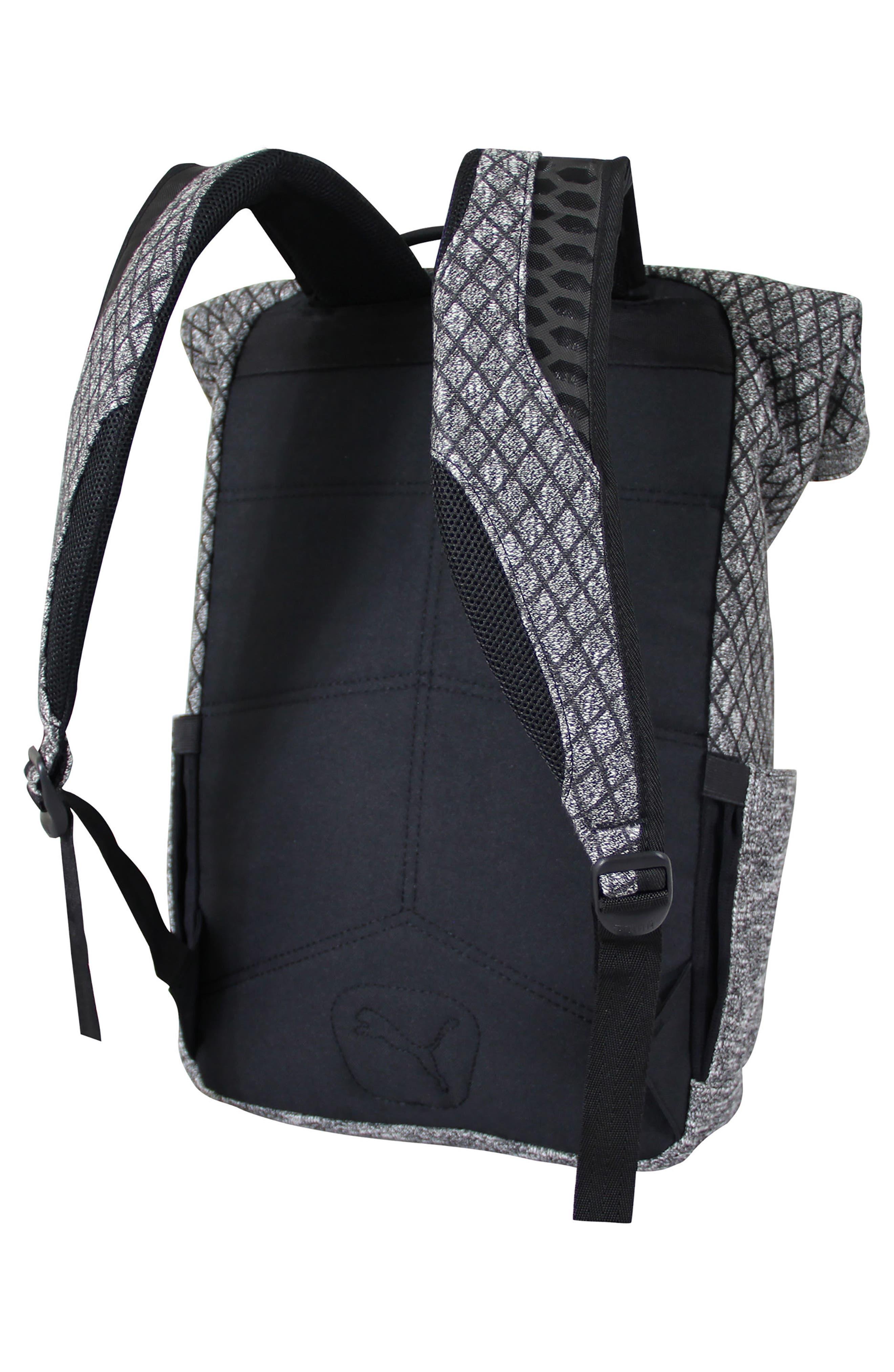 Evo 2.0 Foldover Top Knit Backpack,                             Alternate thumbnail 3, color,                             BLACK/ GREY