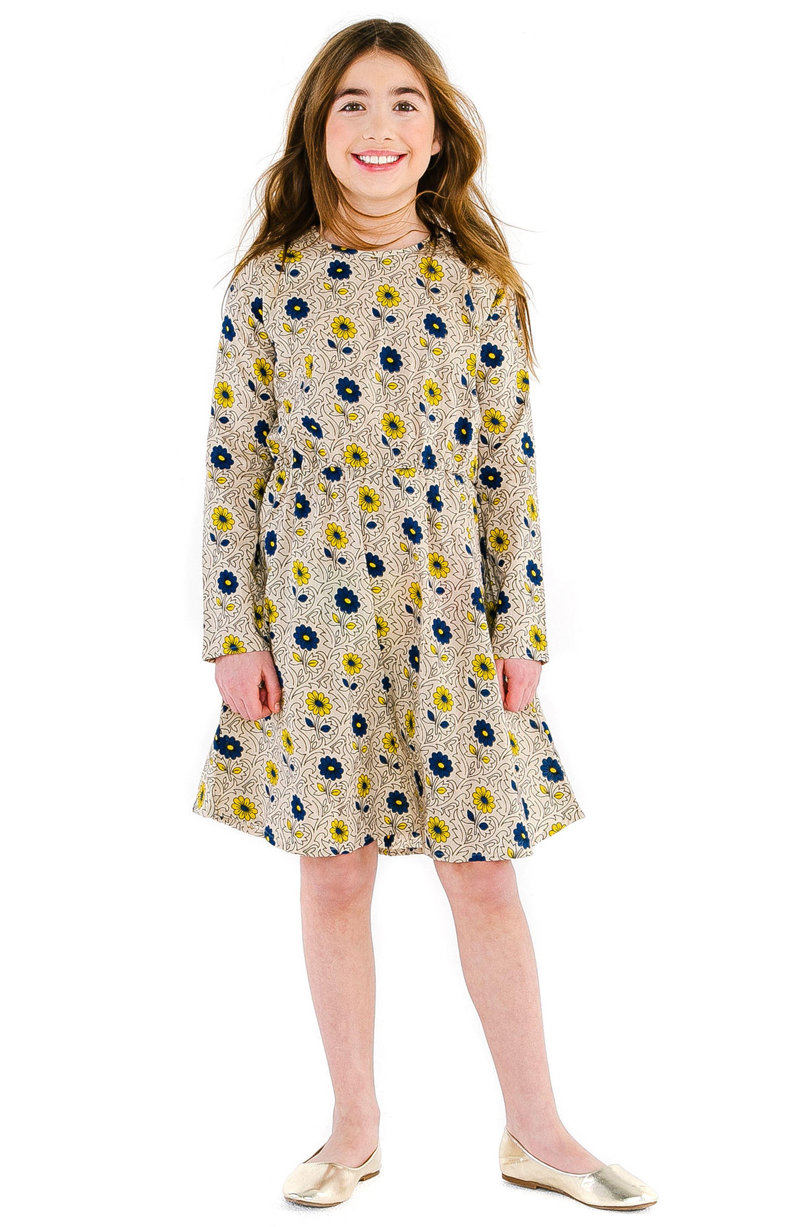 Misha Garden Sand Dress,                             Main thumbnail 1, color,                             SAND