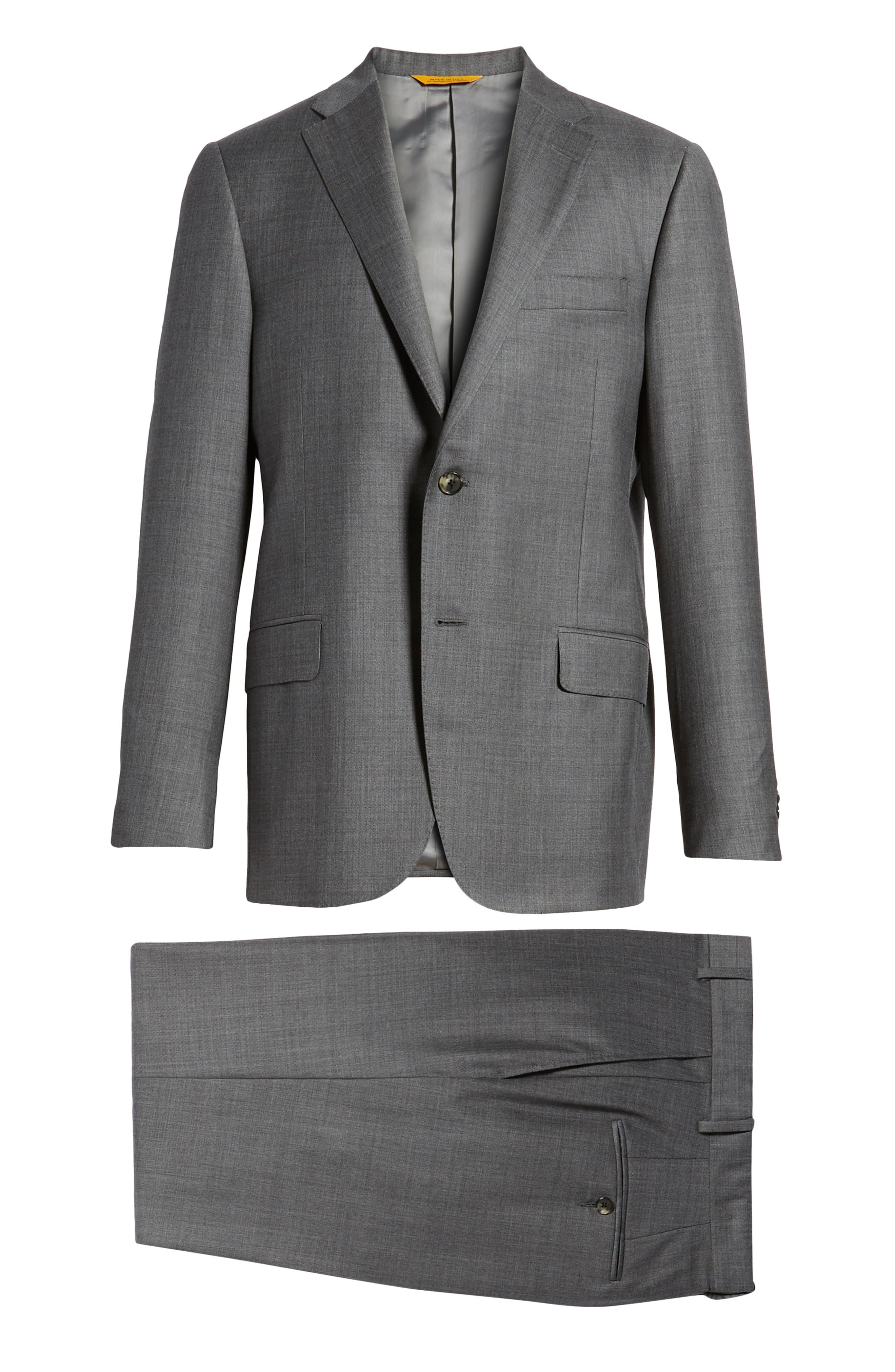 HICKEY FREEMAN,                             Classic B Fit Solid Wool Suit,                             Alternate thumbnail 8, color,                             020