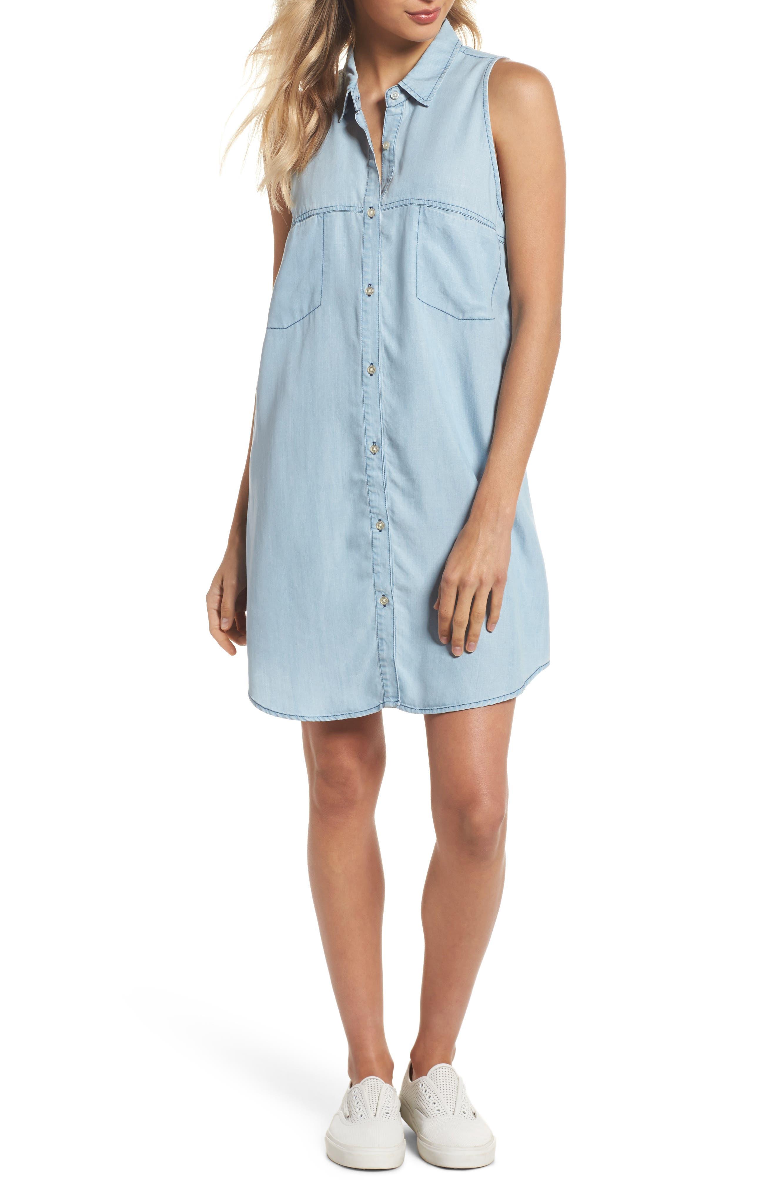 Brantley Indigo Shirtdress,                         Main,                         color,