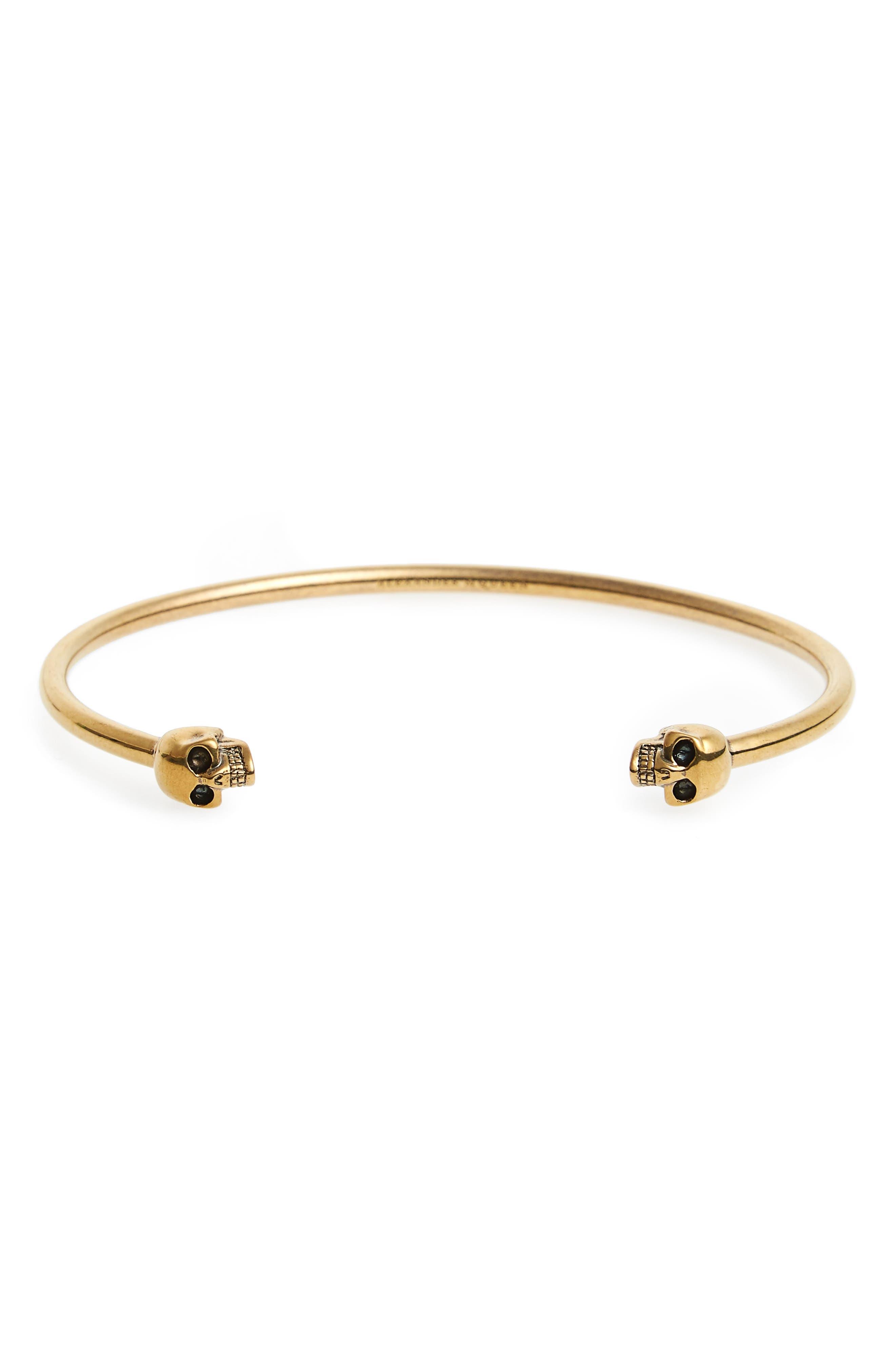 Twin Skull Cuff Bracelet,                         Main,                         color,