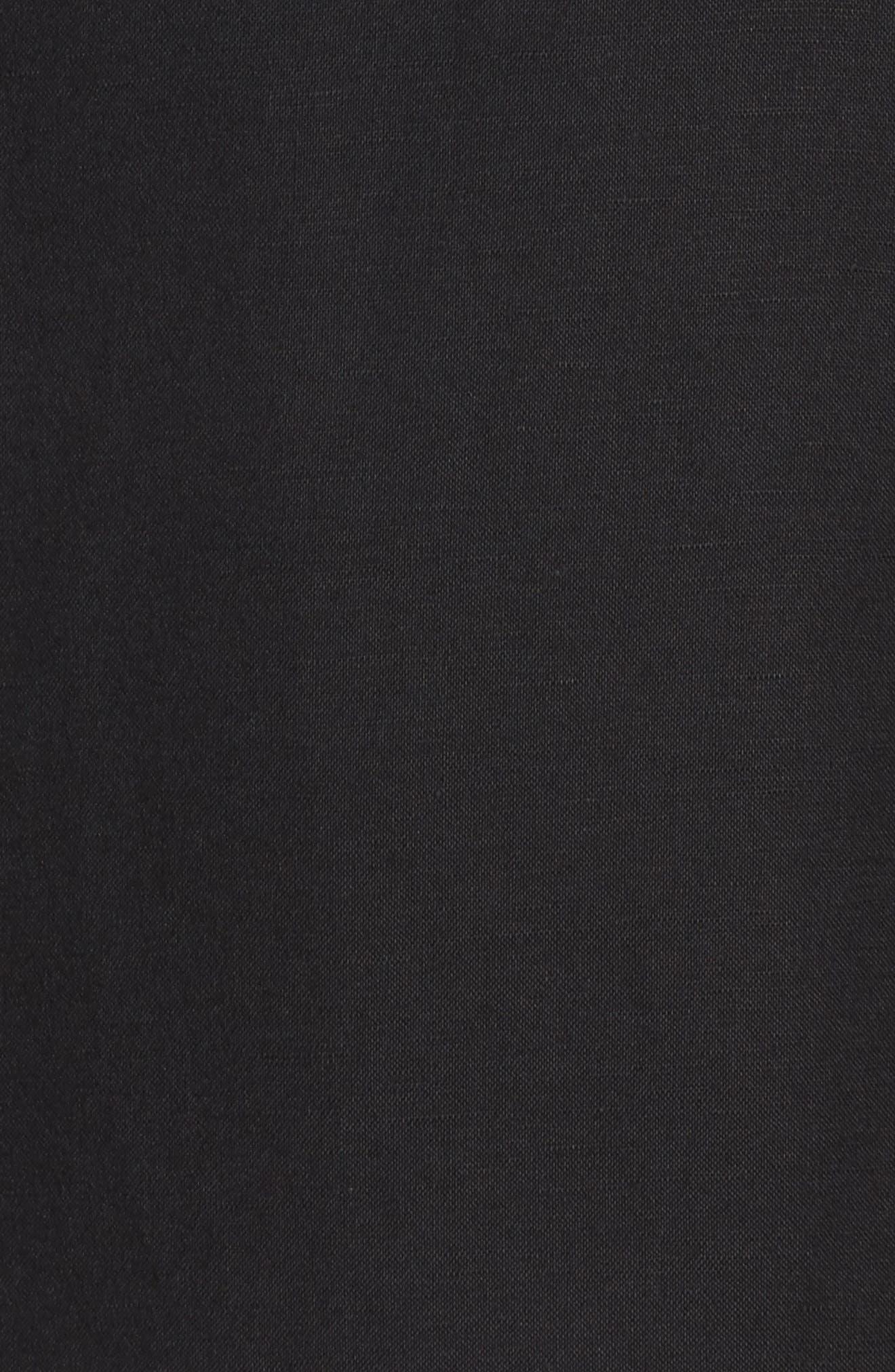 Mandarin Collar Linen Blend Sheath Dress,                             Alternate thumbnail 5, color,                             006