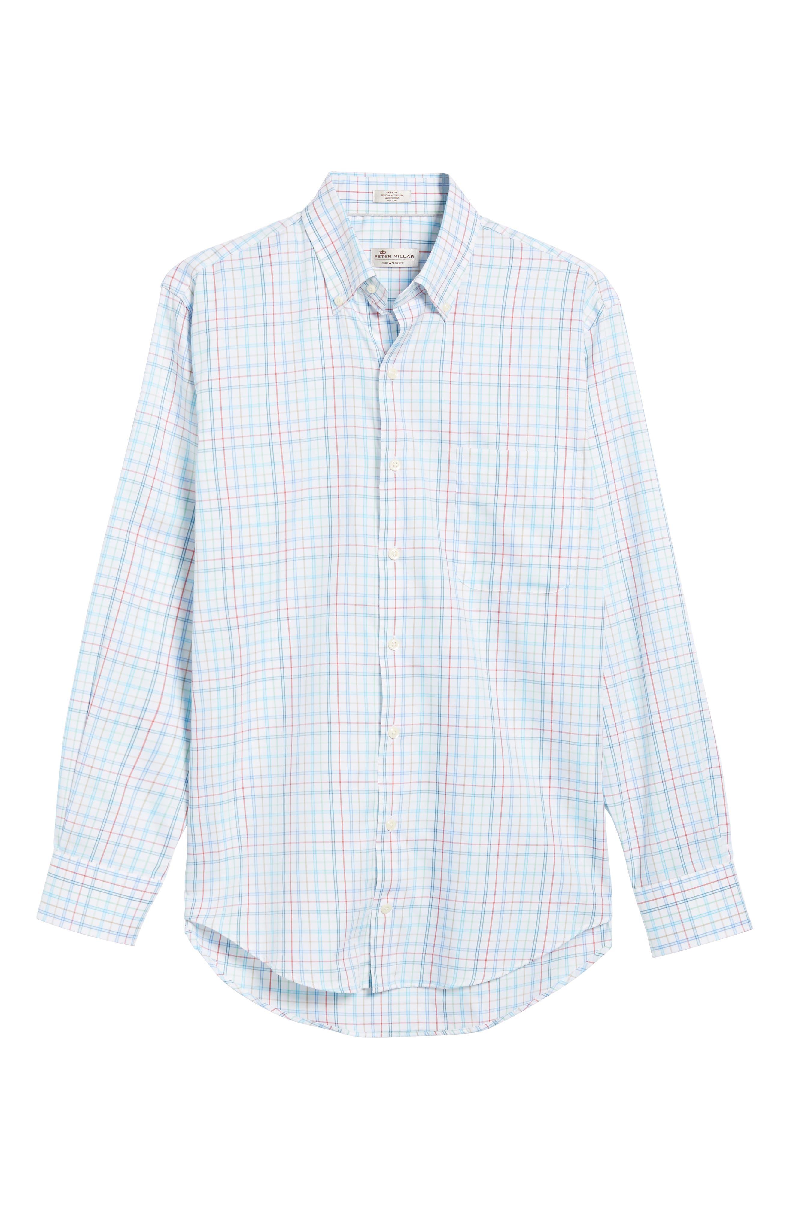 Classic Fit Crown Soft Honolulu Pinwheel Sport Shirt,                             Alternate thumbnail 6, color,                             497