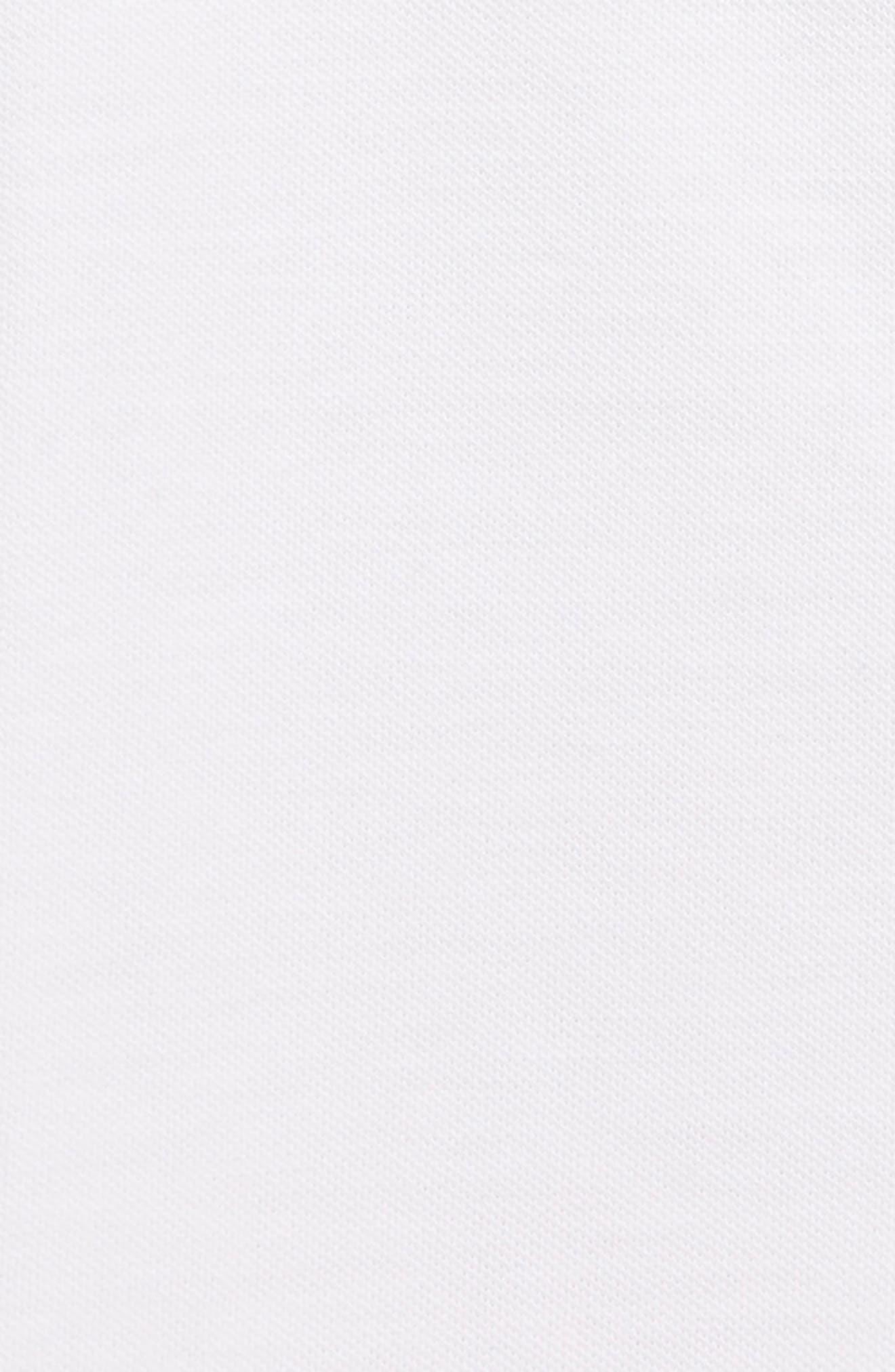 KENZO,                             Logo Tipped Piqué Polo,                             Alternate thumbnail 3, color,                             WHITE