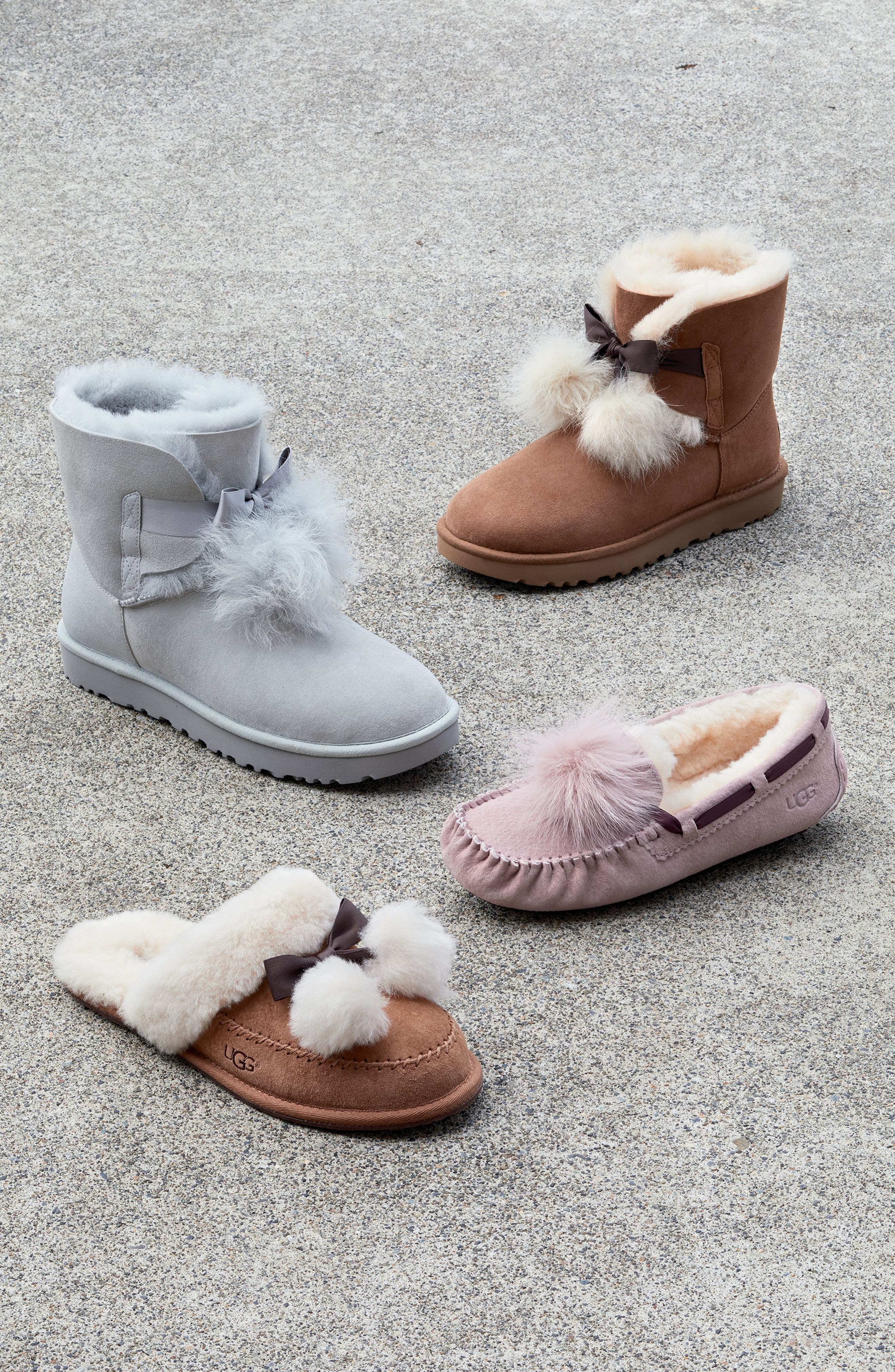 UGG<SUP>®</SUP>,                             Hafnier Genuine Shearling Slipper,                             Alternate thumbnail 7, color,                             001