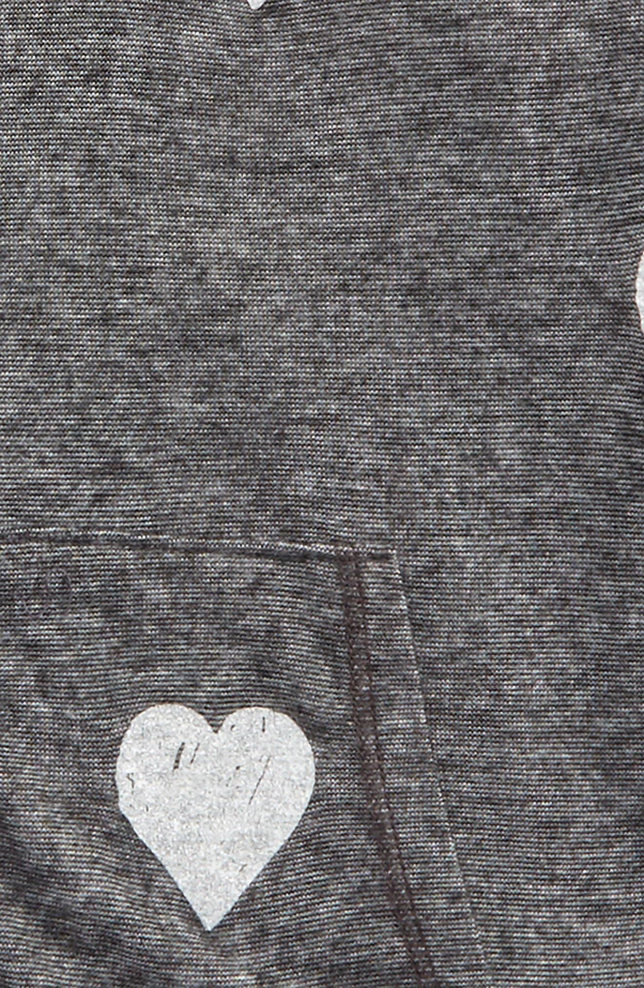 Allover Heart Zip Hoodie,                             Alternate thumbnail 2, color,                             020