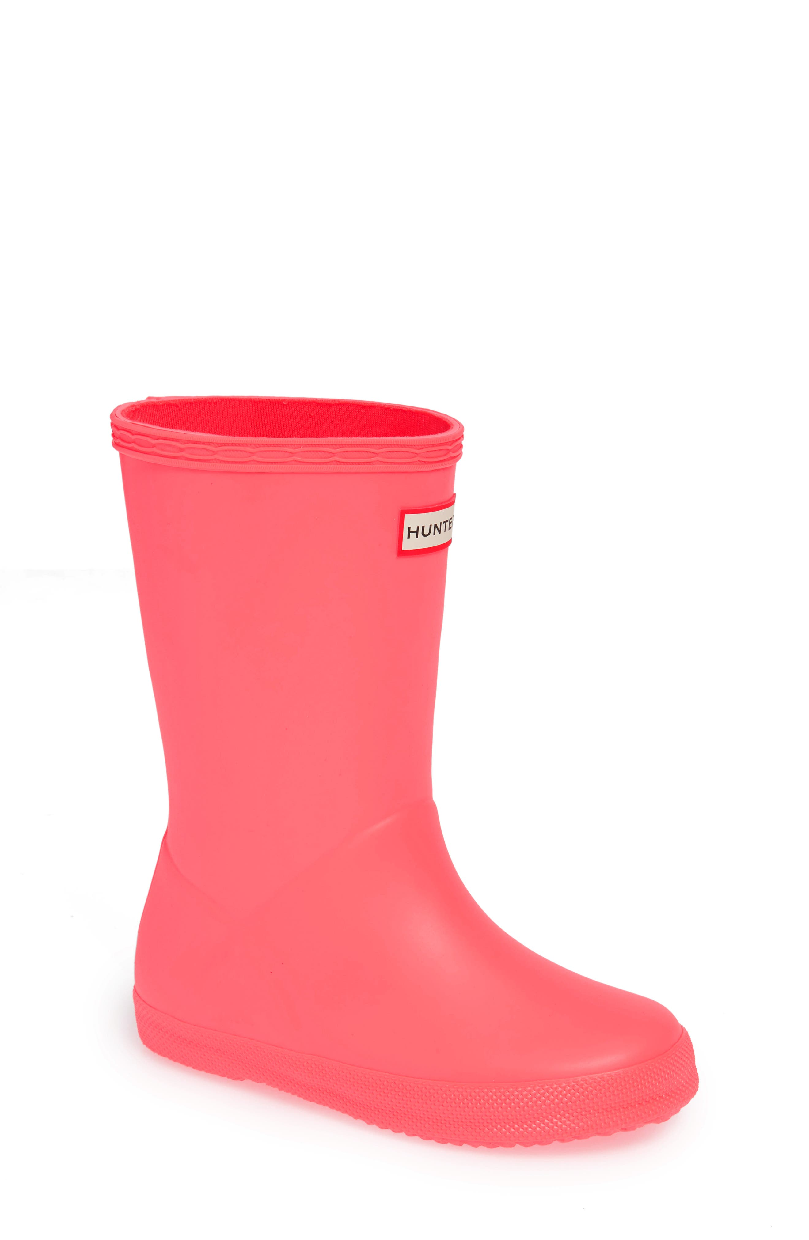First Classic Rain Boot,                         Main,                         color, HYPER PINK