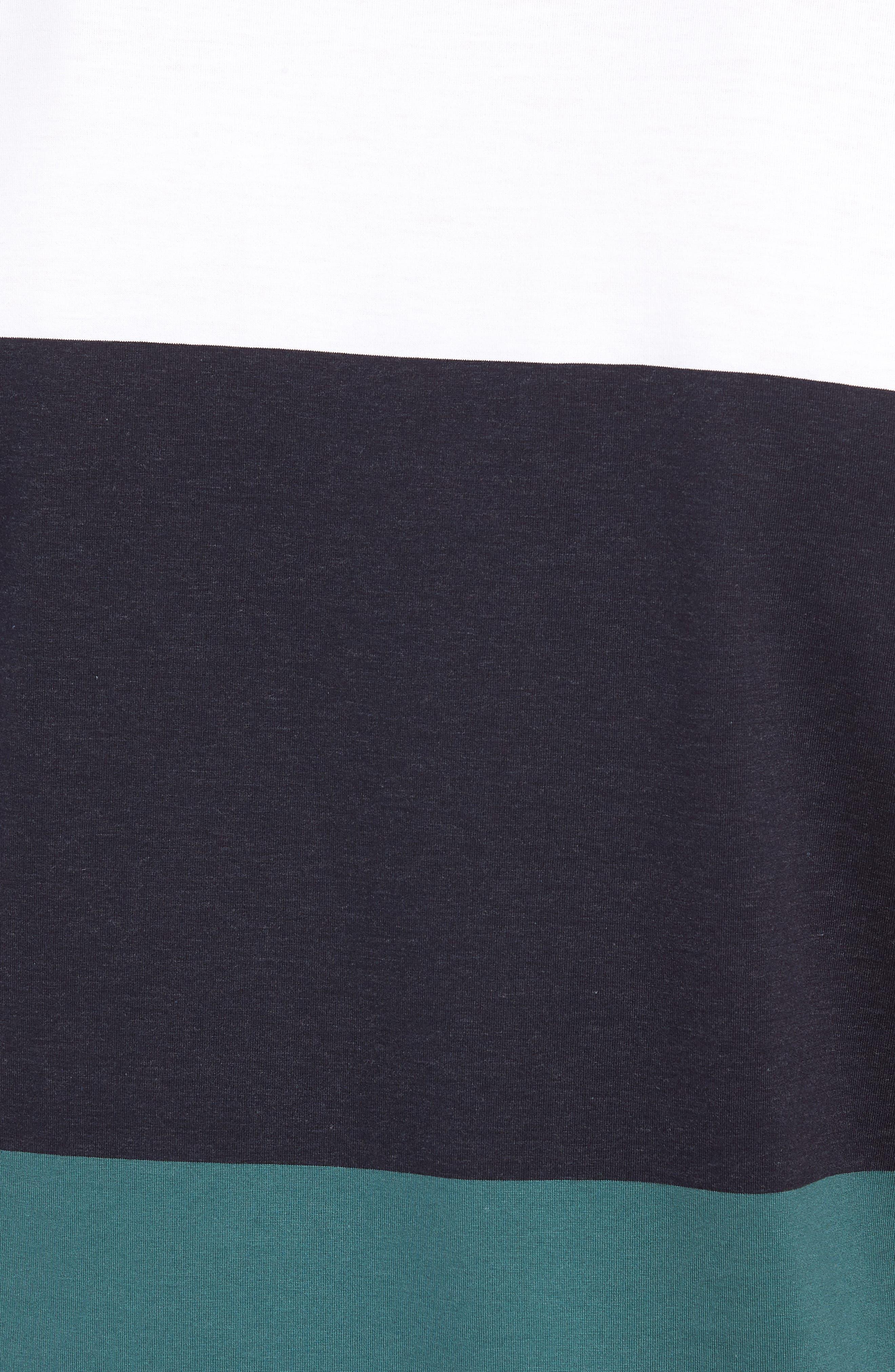 Tessler Colorblock Slim Fit T-Shirt,                             Alternate thumbnail 5, color,                             BLUE