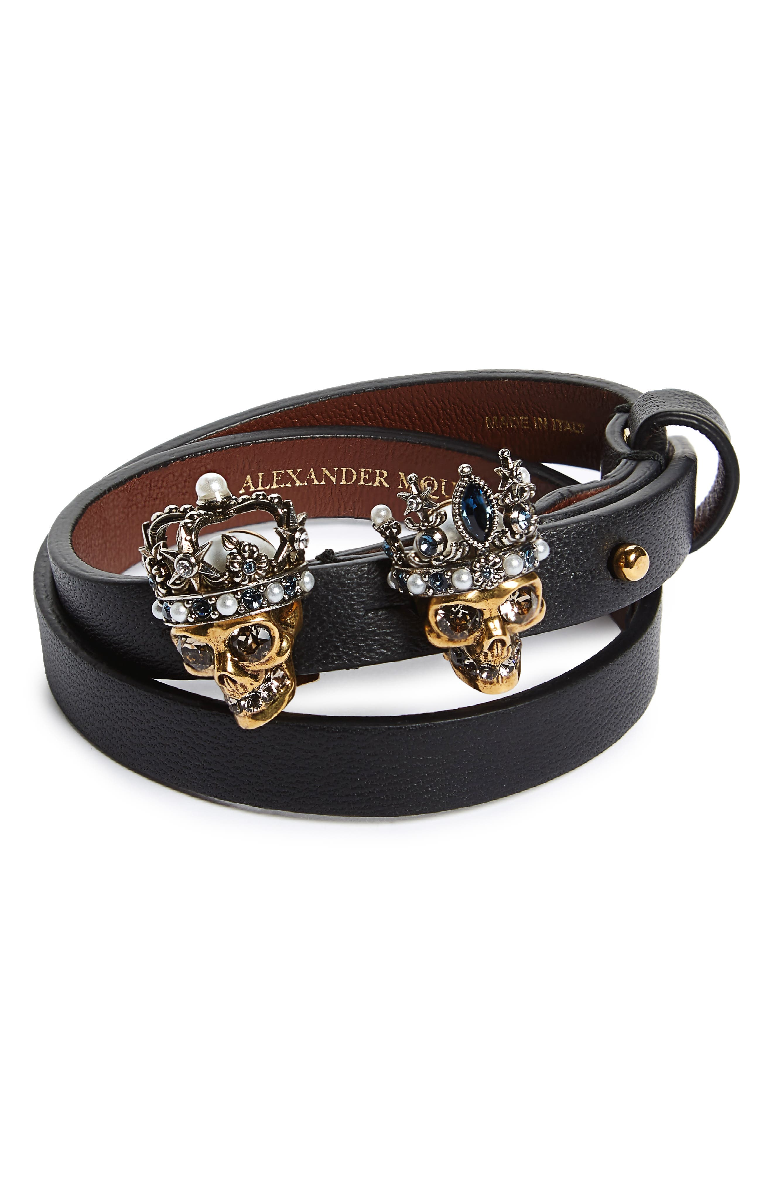 King & Queen Wrap Bracelet,                         Main,                         color, 002