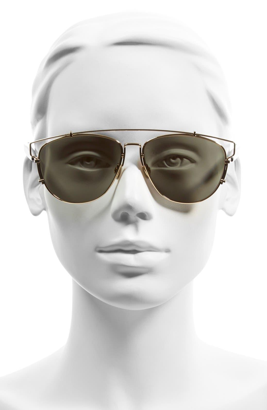 Technologic 57mm Brow Bar Sunglasses,                             Alternate thumbnail 17, color,