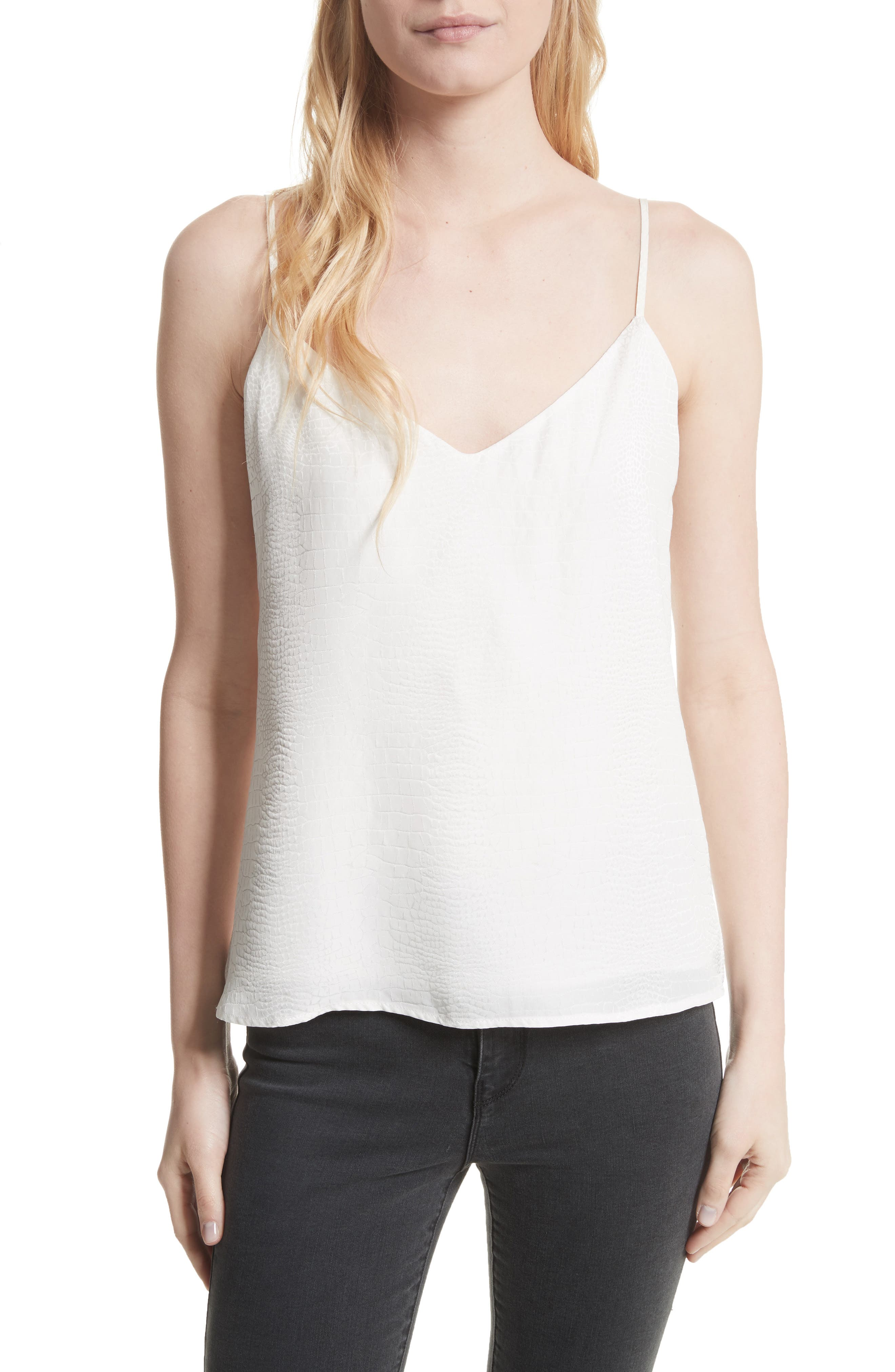 L'AGENCE,                             Jane Silk Camisole,                             Main thumbnail 1, color,                             900